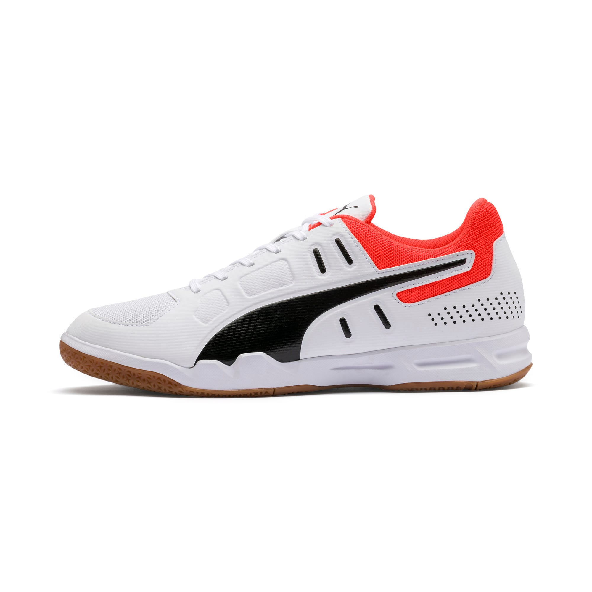 Thumbnail 1 of Auriz Indoor Sport Men's Trainers, White-Black-Nrgy Red-Gum, medium