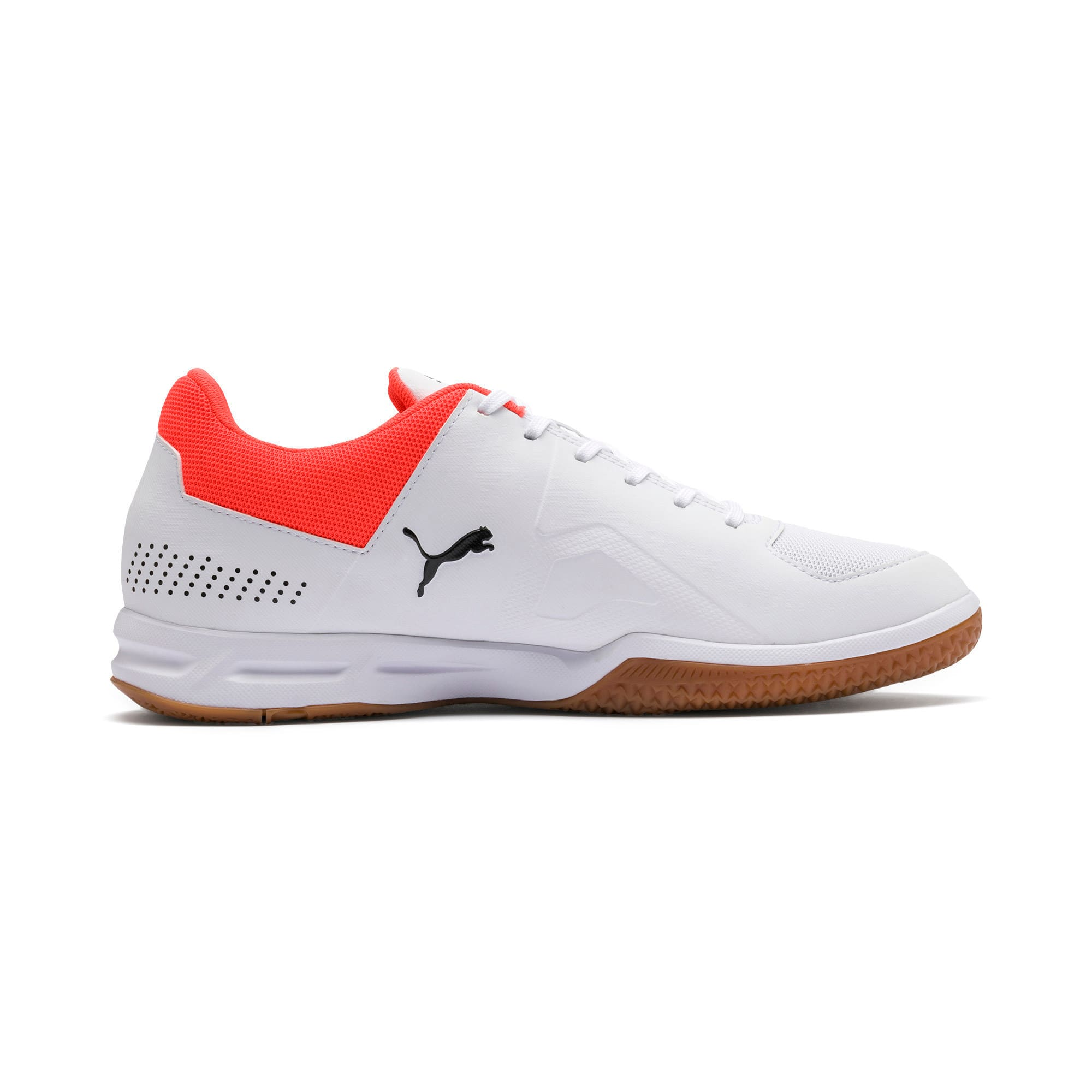 Thumbnail 6 of Auriz Indoor Sport Men's Trainers, White-Black-Nrgy Red-Gum, medium