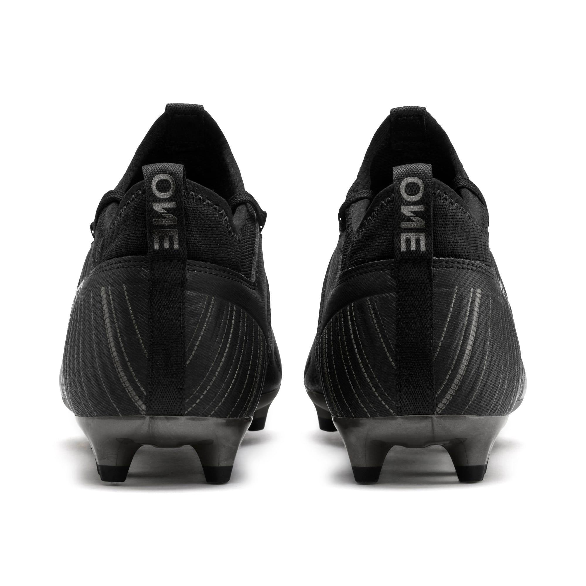 Thumbnail 4 of PUMA ONE 5.3 FG/AG Men's Soccer Cleats, Black-Black-Puma Aged Silver, medium