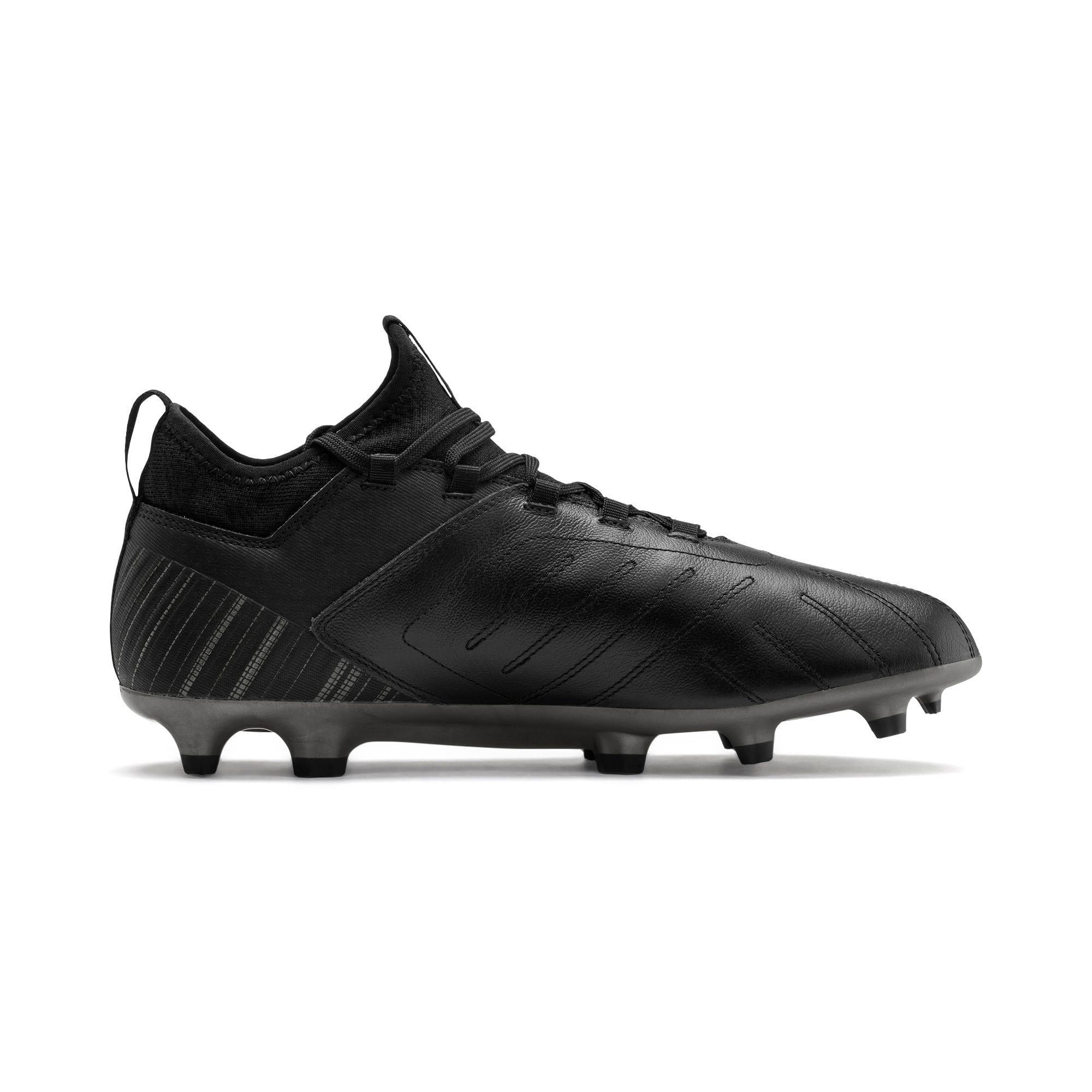 Thumbnail 6 of PUMA ONE 5.3 FG/AG Men's Soccer Cleats, Black-Black-Puma Aged Silver, medium