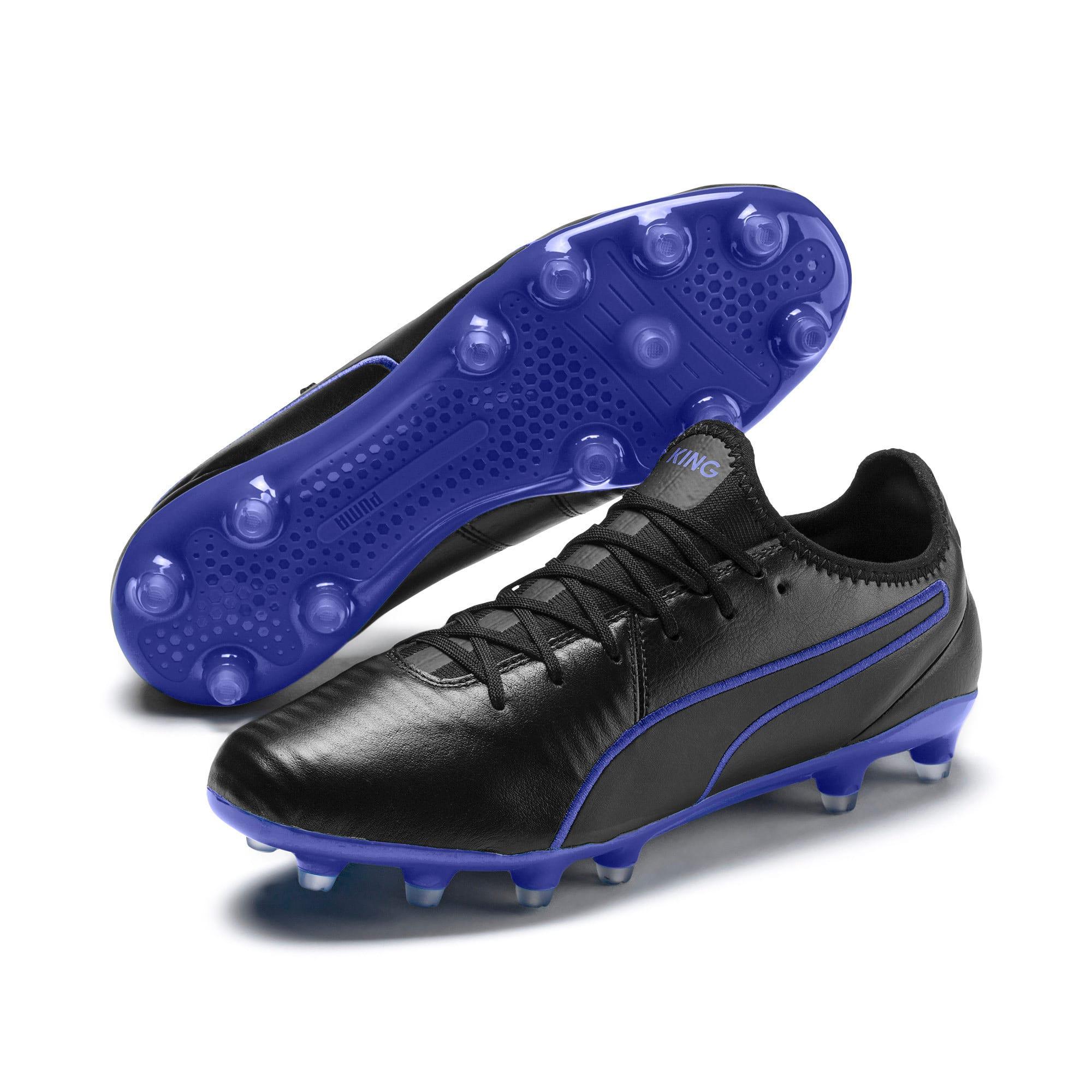 Thumbnail 2 of King Pro FG Soccer Cleats, Puma Black-Royal Blue, medium