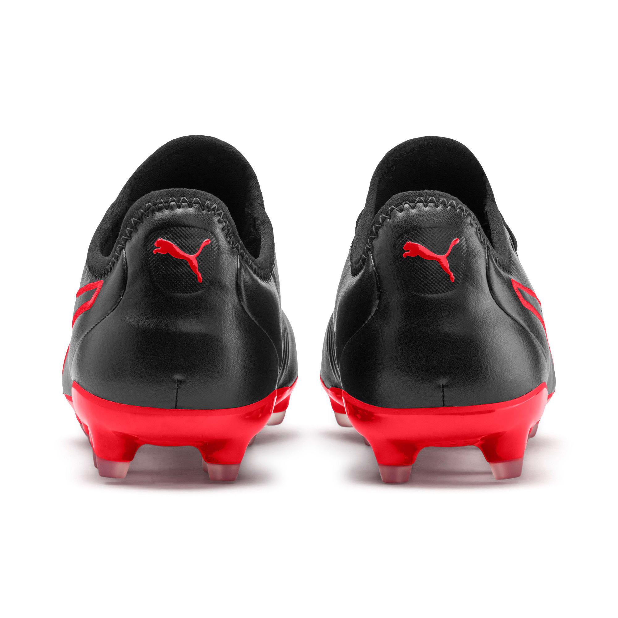Thumbnail 4 of King Pro FG Soccer Cleats, Puma Black-High Risk Red, medium