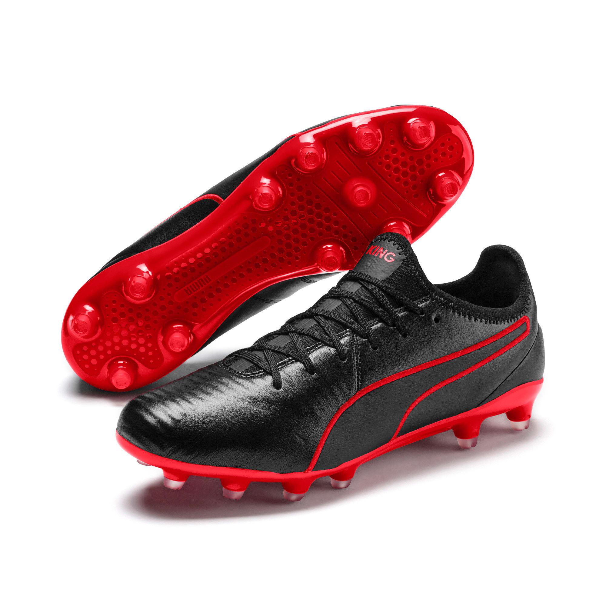 Thumbnail 2 of King Pro FG Soccer Cleats, Puma Black-High Risk Red, medium
