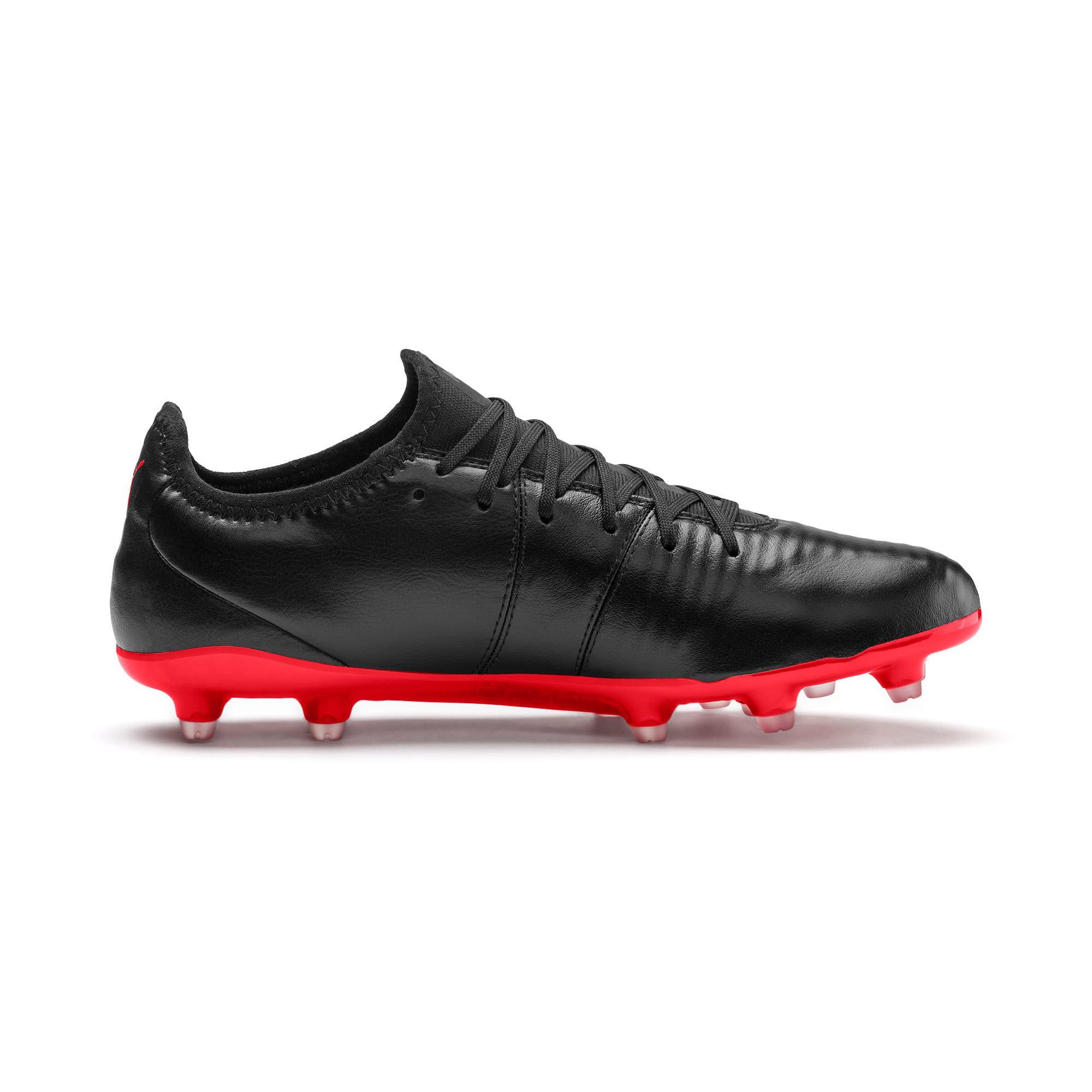 Thumbnail 6 of King Pro FG Soccer Cleats, Puma Black-High Risk Red, medium