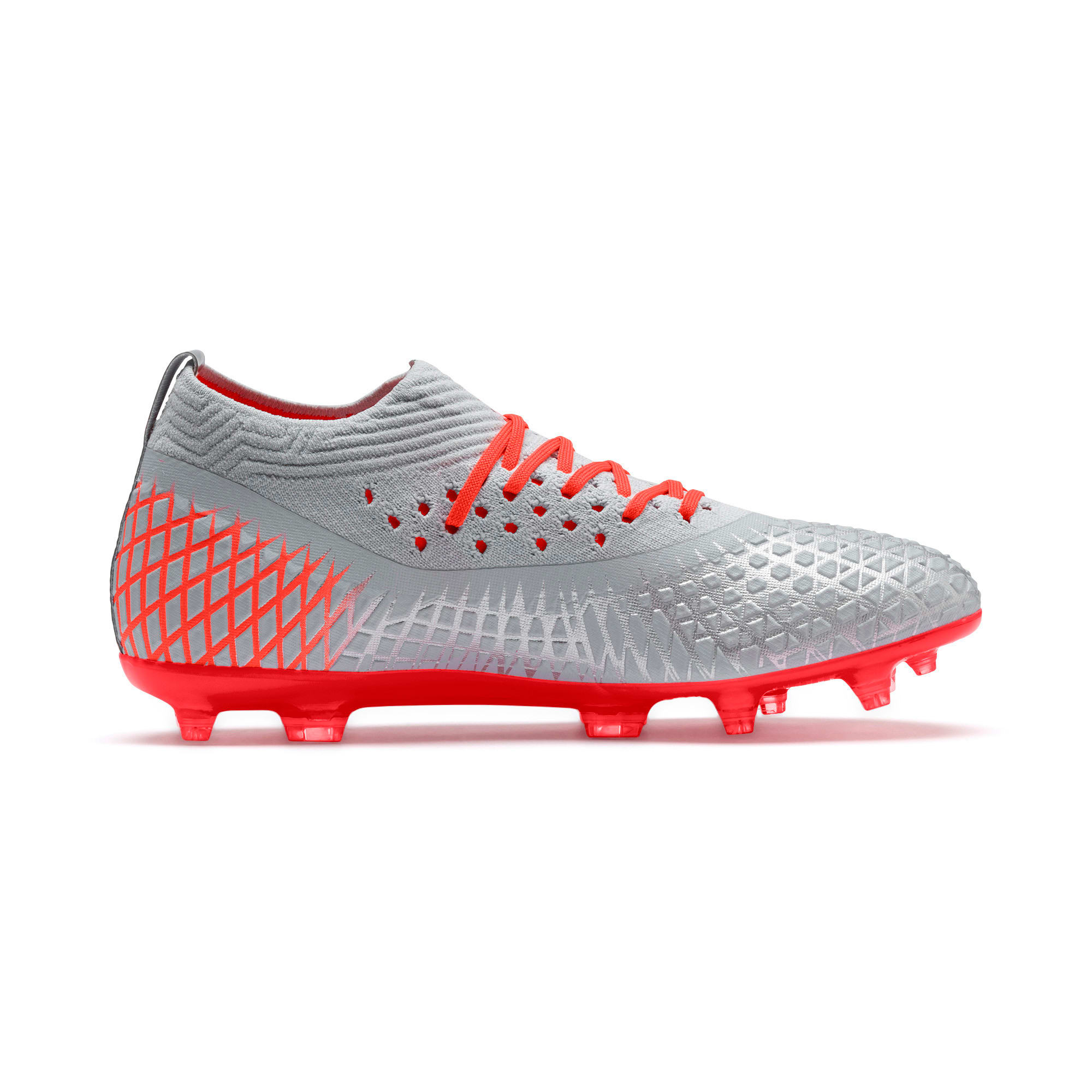 FUTURE 4.2 NETFIT FG/AG voetbalschoenen voor mannen, Glacial Blue-Nrgy Red, large