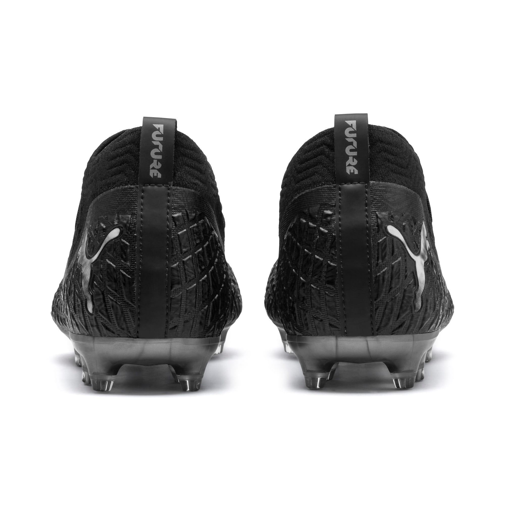 Thumbnail 4 of FUTURE 4.2 NETFIT FG/AG Men's Football Boots, Black-Black-Puma Aged Silver, medium