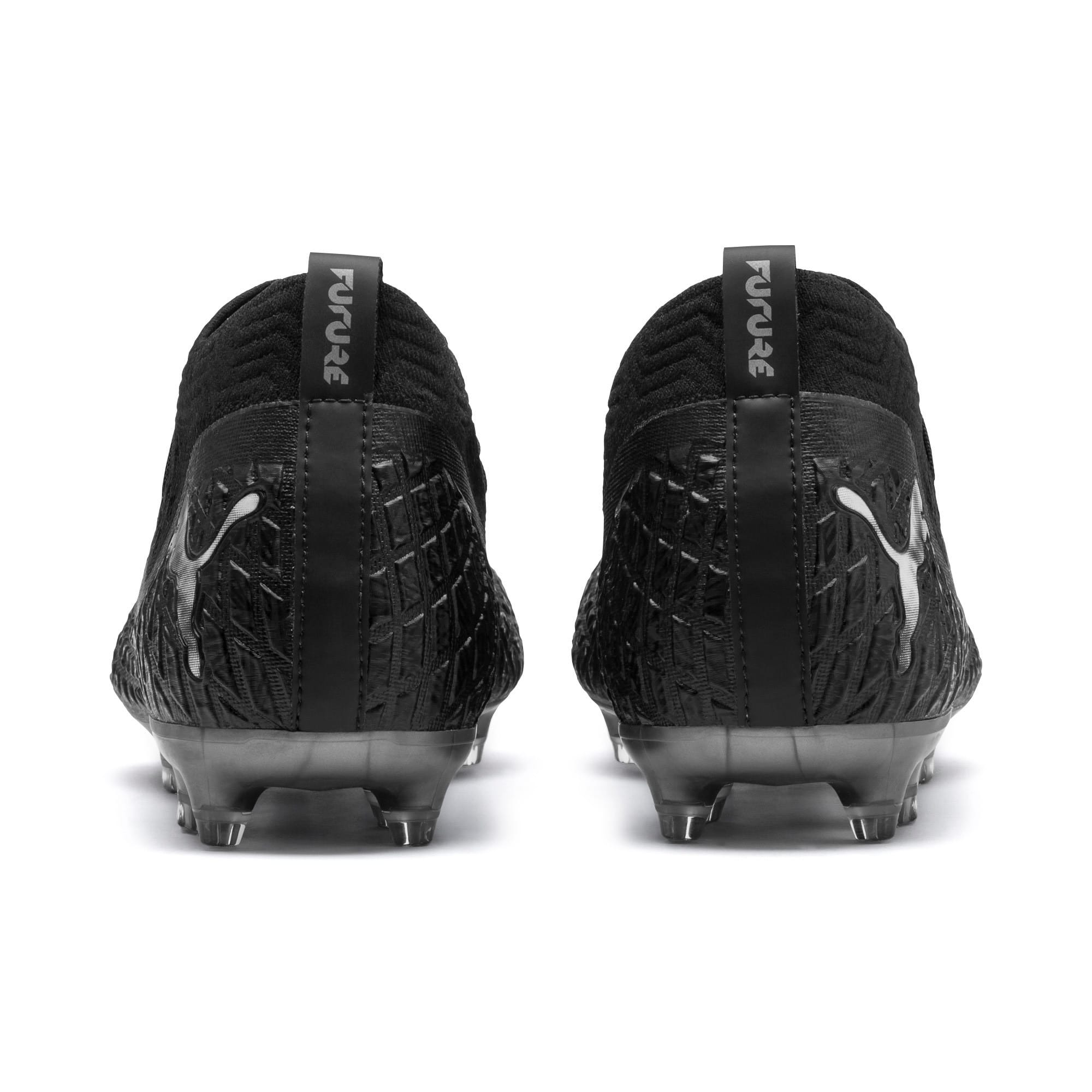 Thumbnail 4 of FUTURE 4.2 NETFIT FG/AG Men's Soccer Cleats, Black-Black-Puma Aged Silver, medium