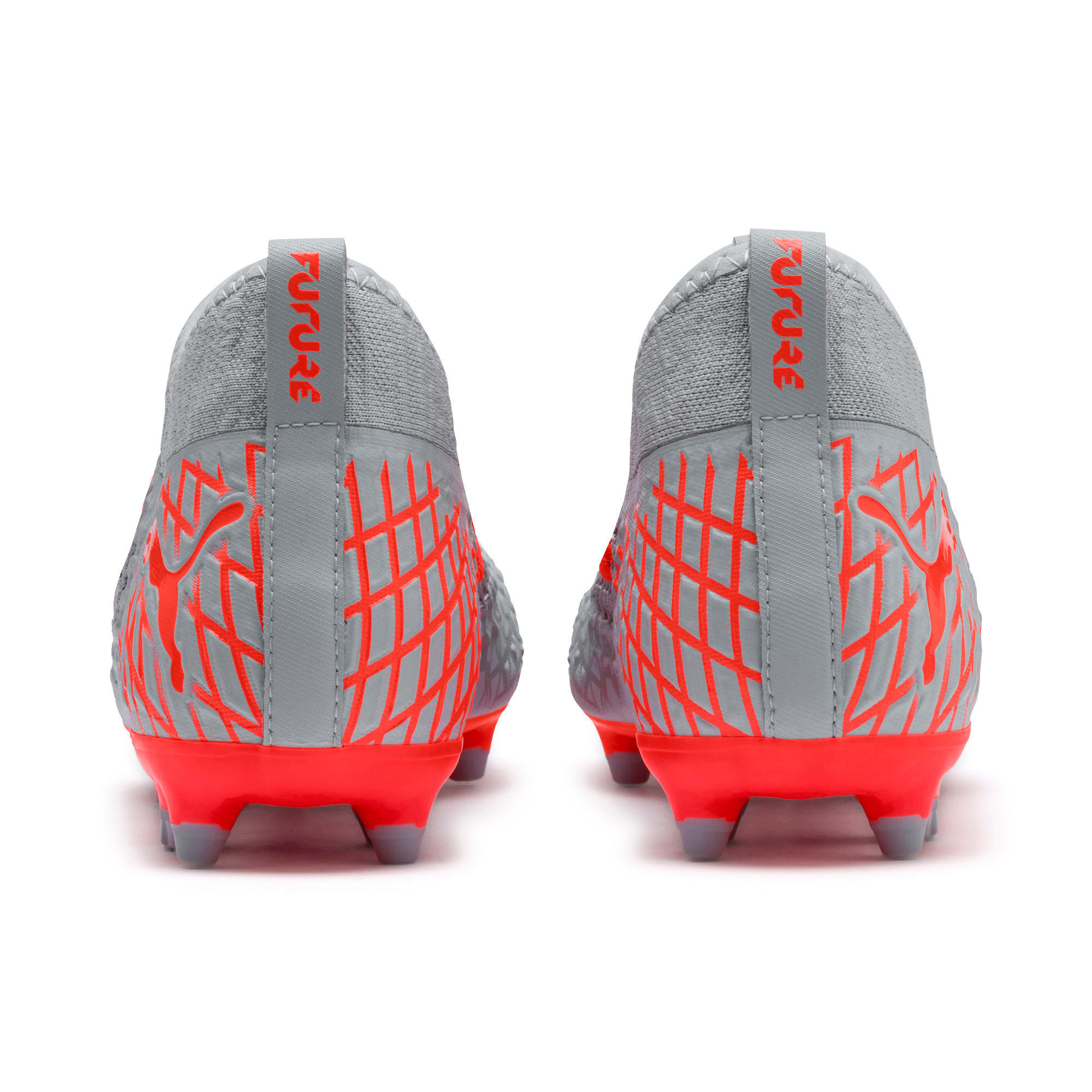 Thumbnail 4 of FUTURE 4.3 NETFIT FG/AG Men's Soccer Cleats, Glacial Blue-Nrgy Red, medium