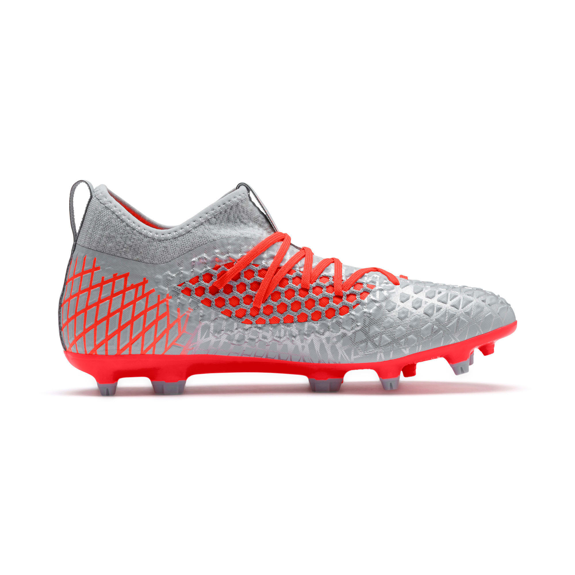Thumbnail 6 of FUTURE 4.3 NETFIT FG/AG Men's Soccer Cleats, Glacial Blue-Nrgy Red, medium
