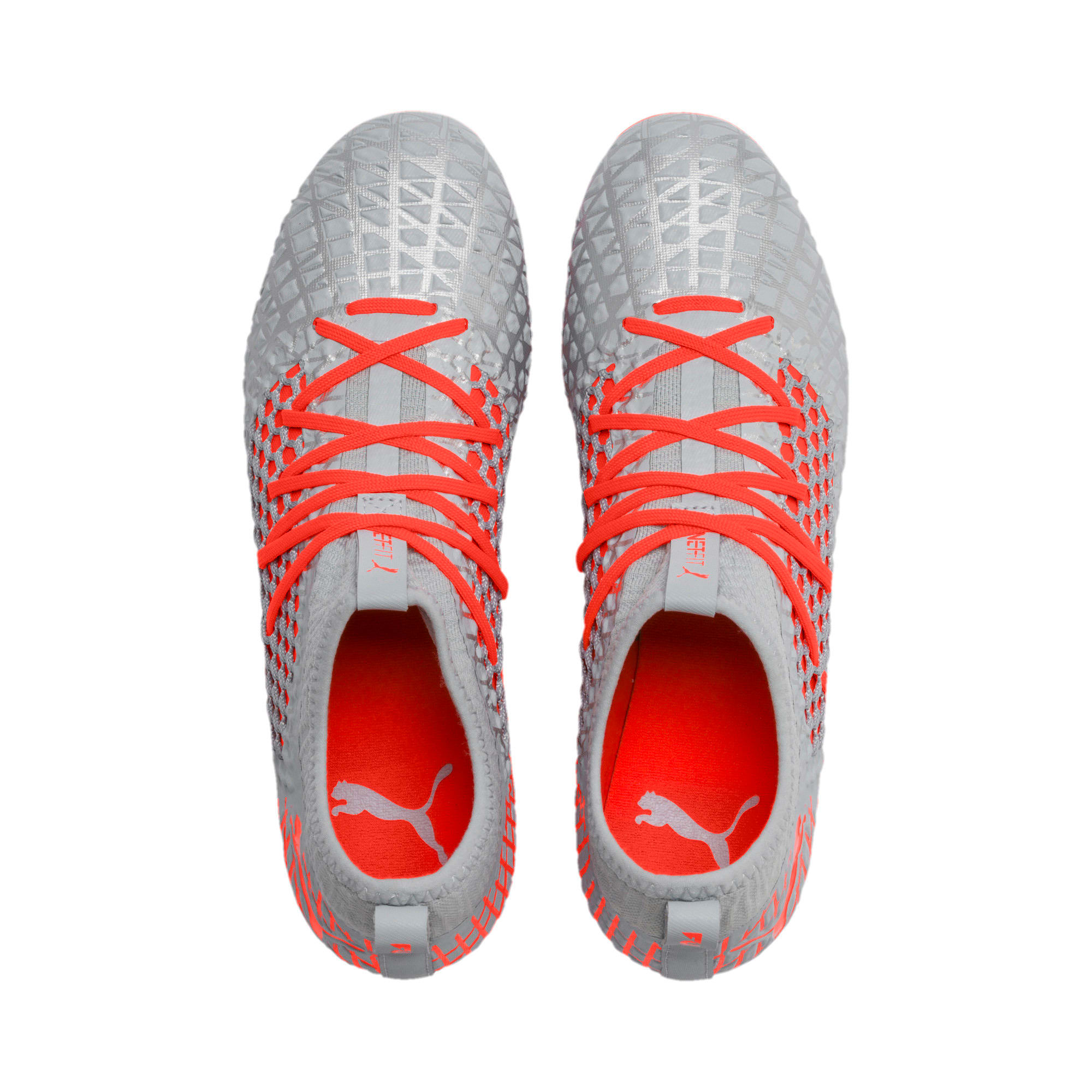 Thumbnail 7 of FUTURE 4.3 NETFIT FG/AG Men's Soccer Cleats, Glacial Blue-Nrgy Red, medium