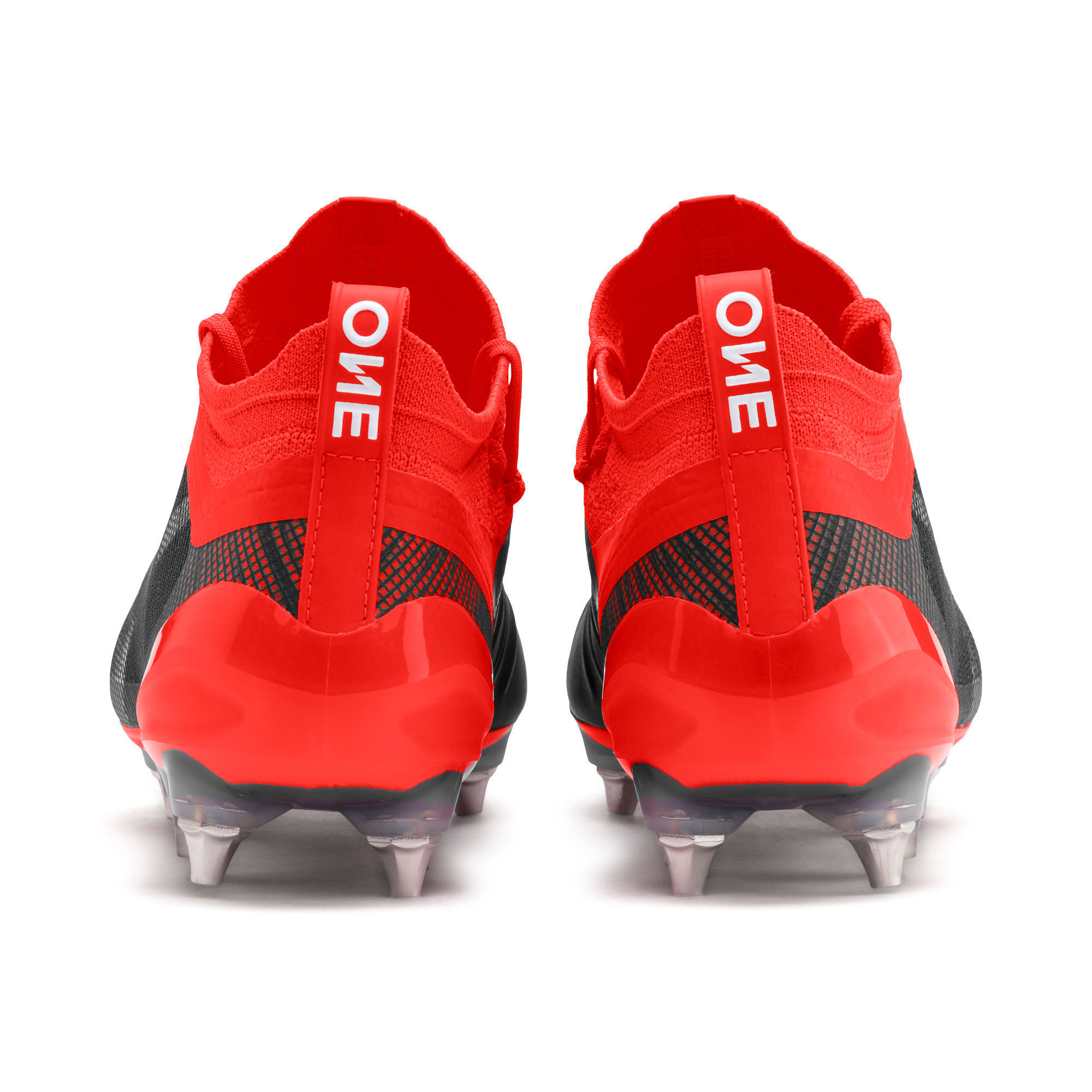 Thumbnail 4 of PUMA ONE 5.1 MxSG Football Boots, Black-Nrgy Red-Aged Silver, medium