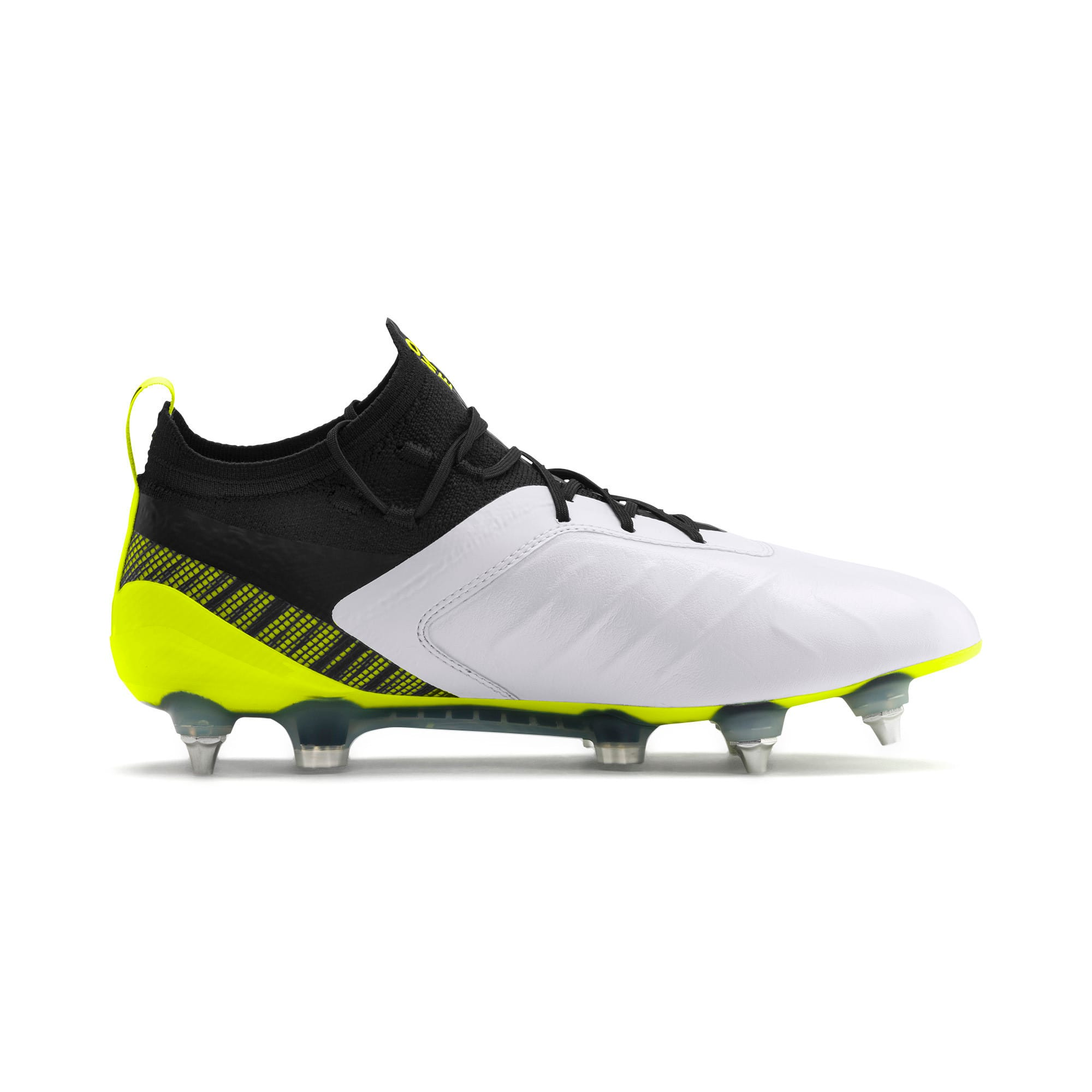 Thumbnail 6 of PUMA ONE 5.1 MxSG Football Boots, White-Black-Yellow Alert, medium