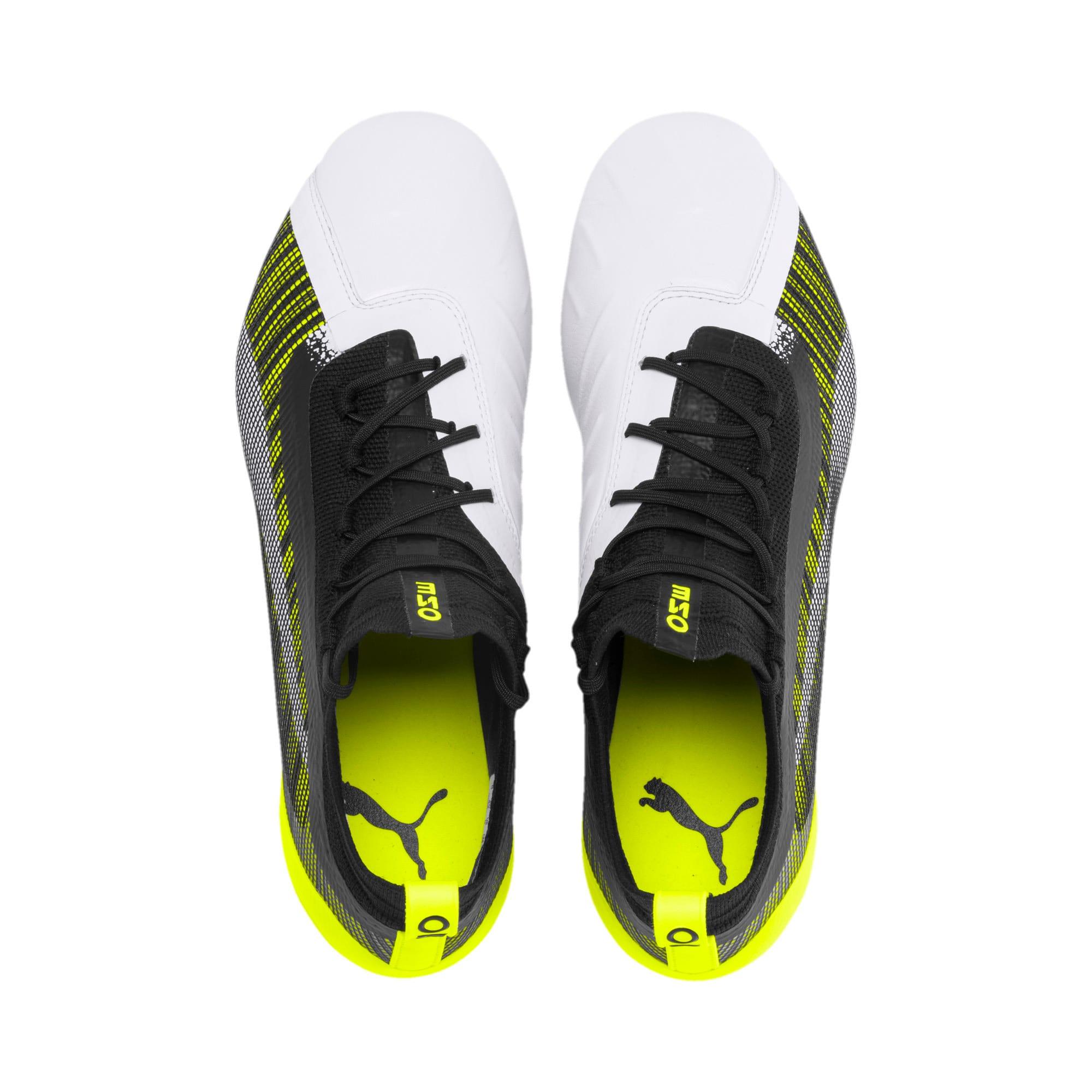 Thumbnail 7 of PUMA ONE 5.1 MxSG Football Boots, White-Black-Yellow Alert, medium