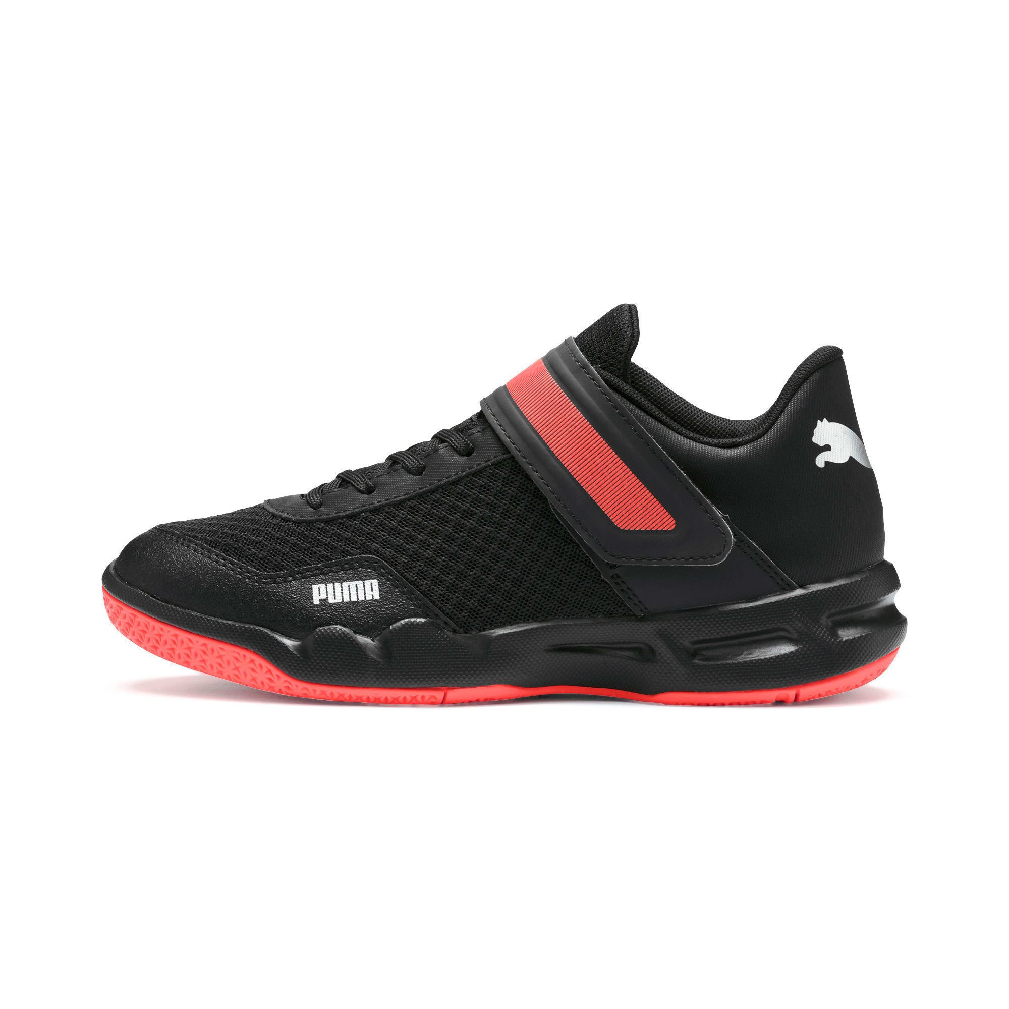Thumbnail 1 of Rise XT 4 Youth Sneaker, Puma Black-Silver-Nrgy Red, medium