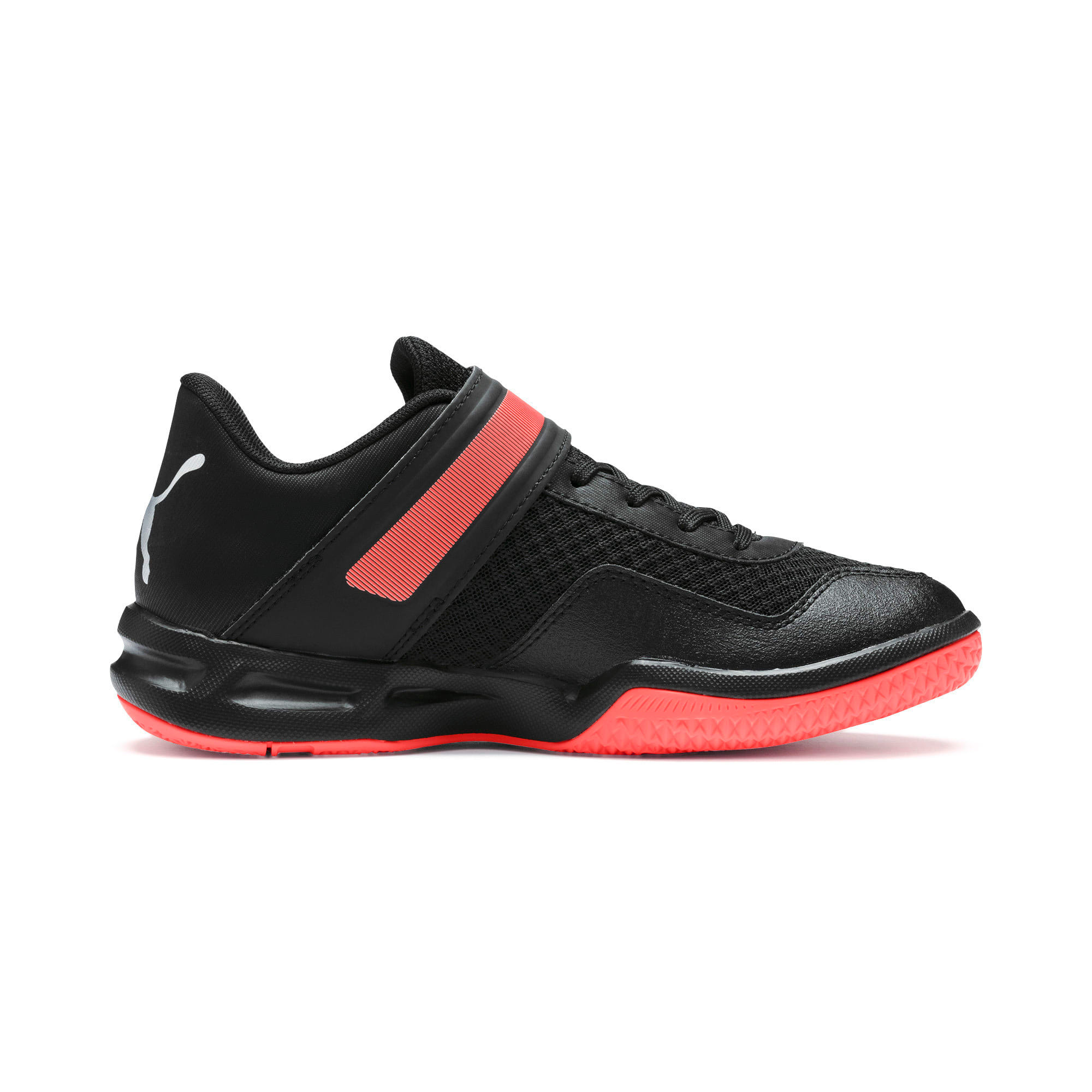 Thumbnail 5 of Rise XT 4 Youth Sneaker, Puma Black-Silver-Nrgy Red, medium