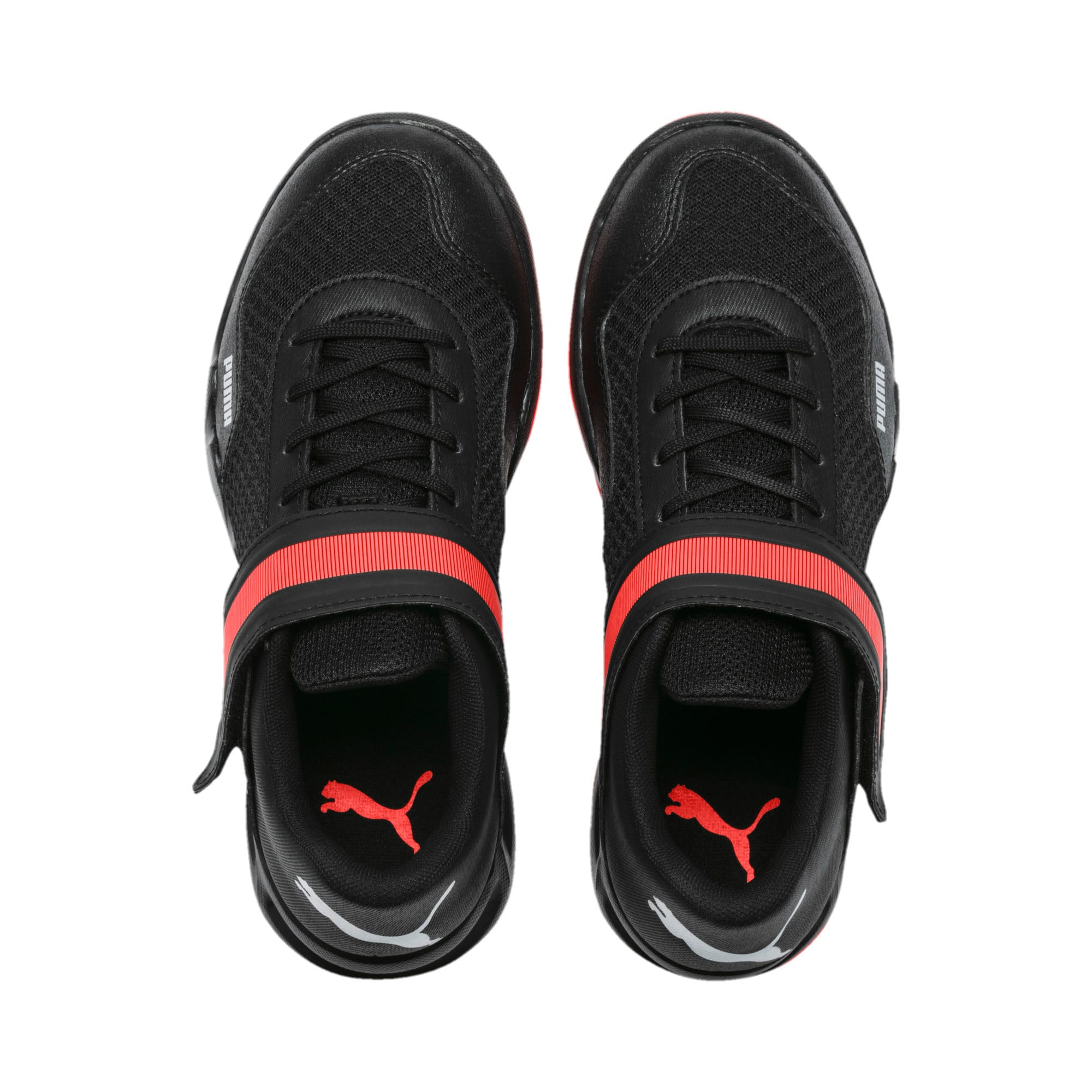 Thumbnail 6 of Rise XT 4 Youth Sneaker, Puma Black-Silver-Nrgy Red, medium