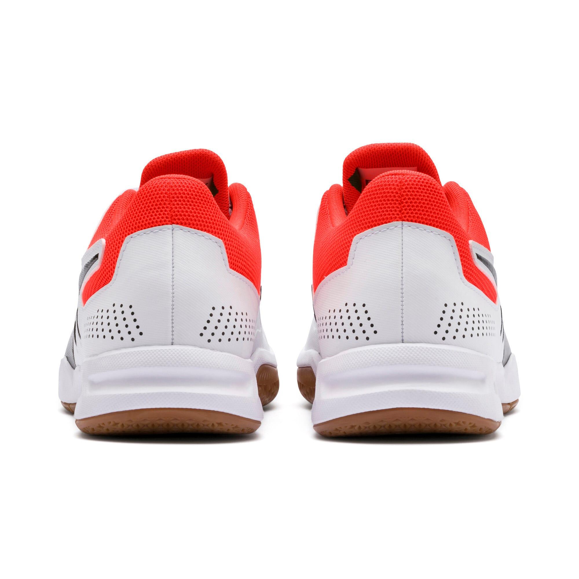 Thumbnail 3 of Auriz Youth Sneaker, White-Black-Nrgy Red-Gum, medium