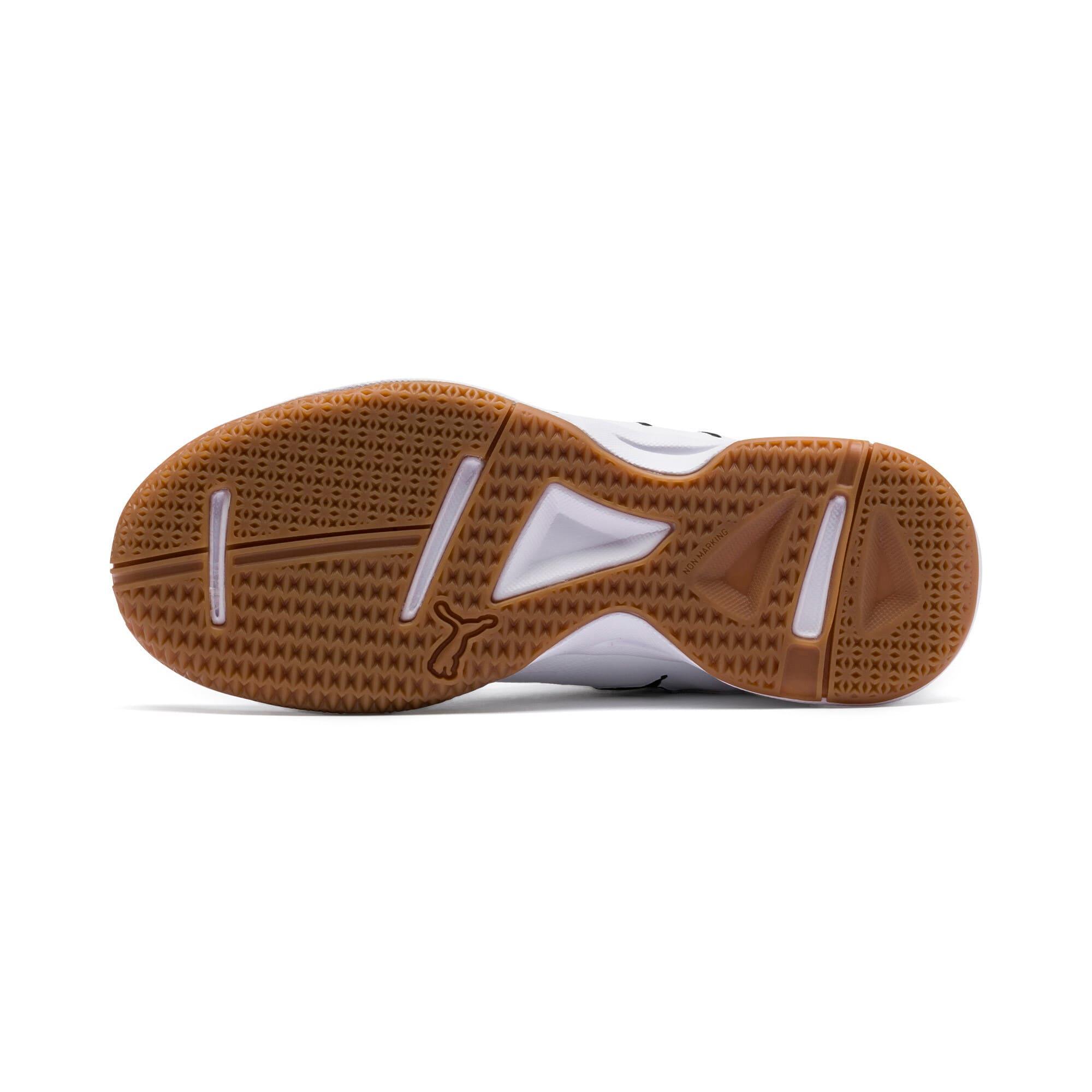 Thumbnail 4 of Auriz Youth Sneaker, White-Black-Nrgy Red-Gum, medium