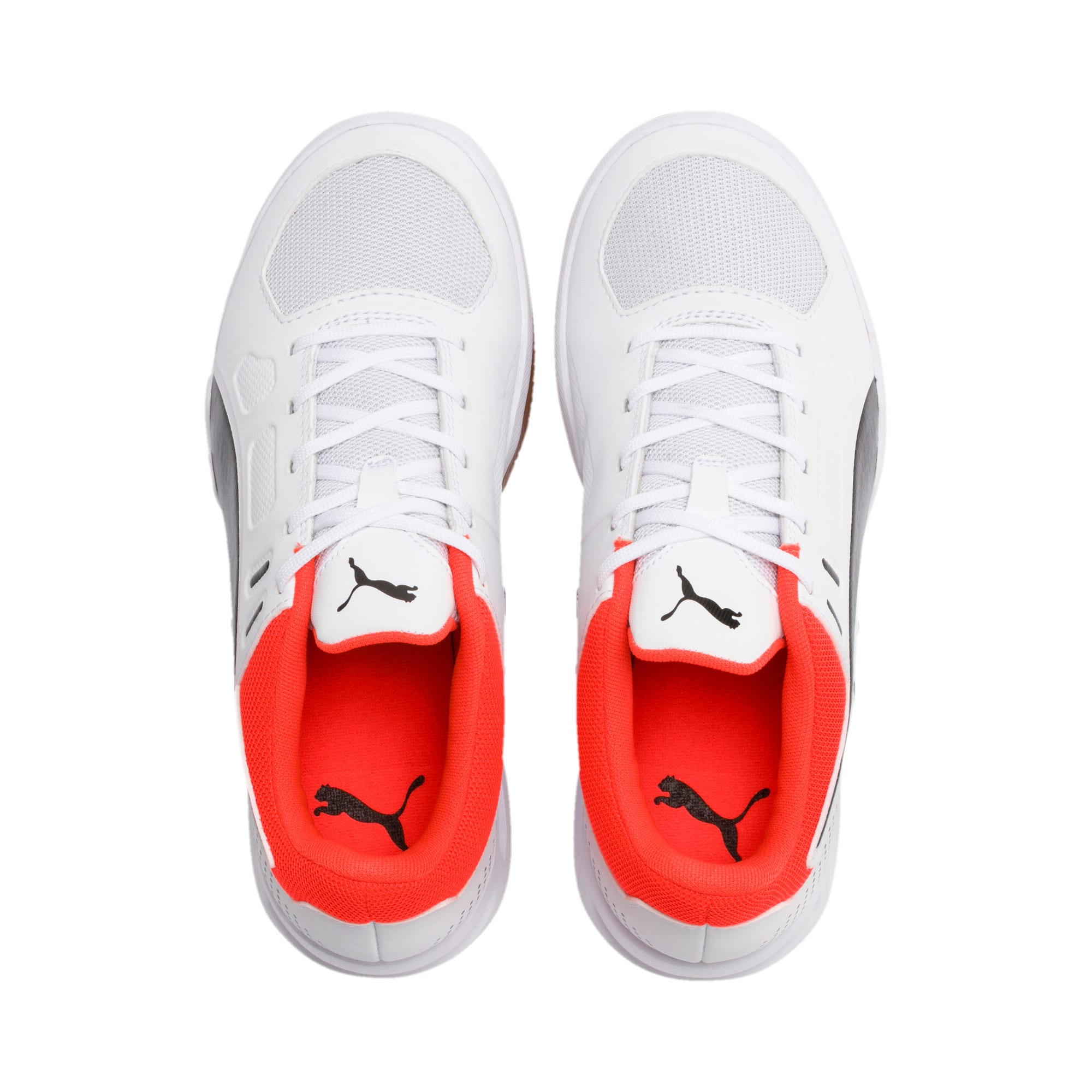 Thumbnail 6 of Auriz Youth Sneaker, White-Black-Nrgy Red-Gum, medium