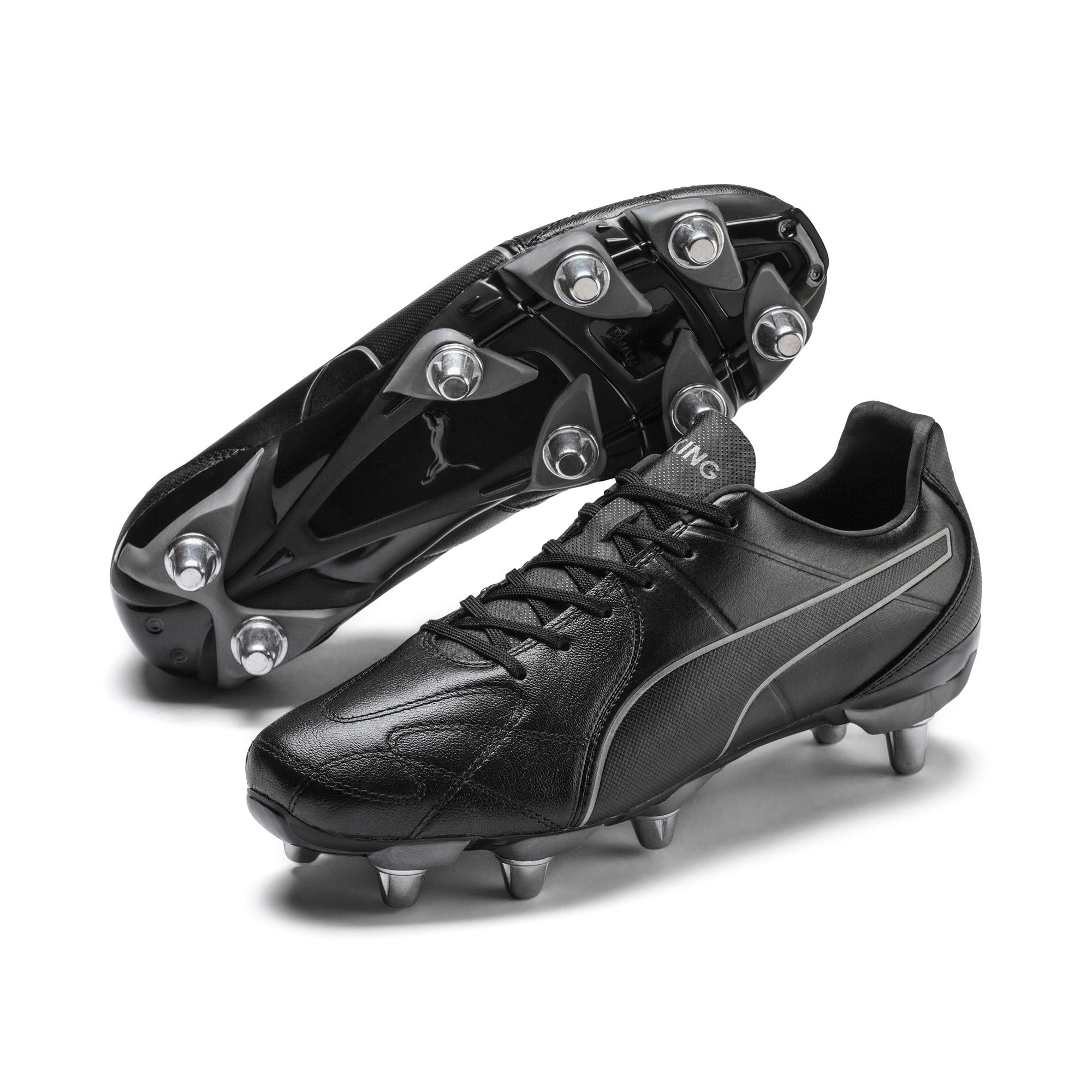 Thumbnail 2 of KING Hero H8 Men's Rugby Boots, Puma Black-Puma Aged Silver, medium
