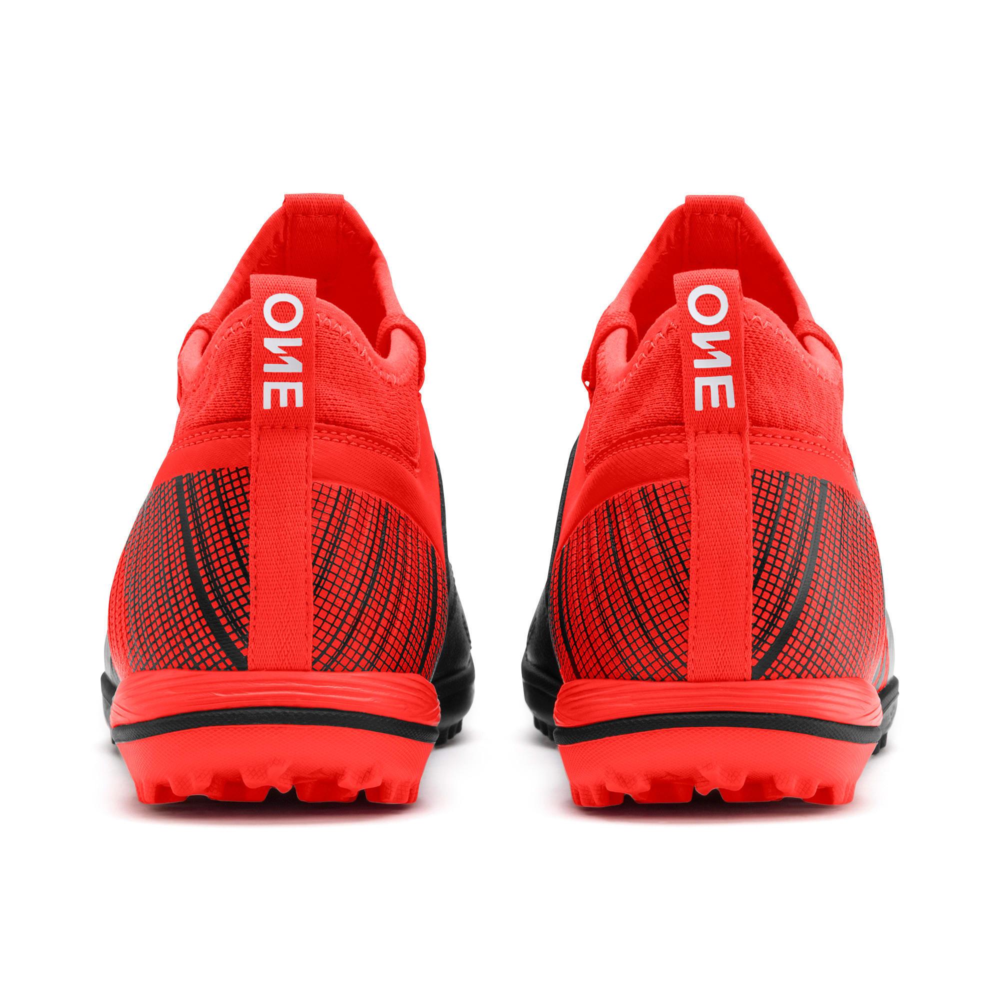 Thumbnail 4 of PUMA ONE 5.3 TT Men's Soccer Shoes, Black-Nrgy Red-Aged Silver, medium