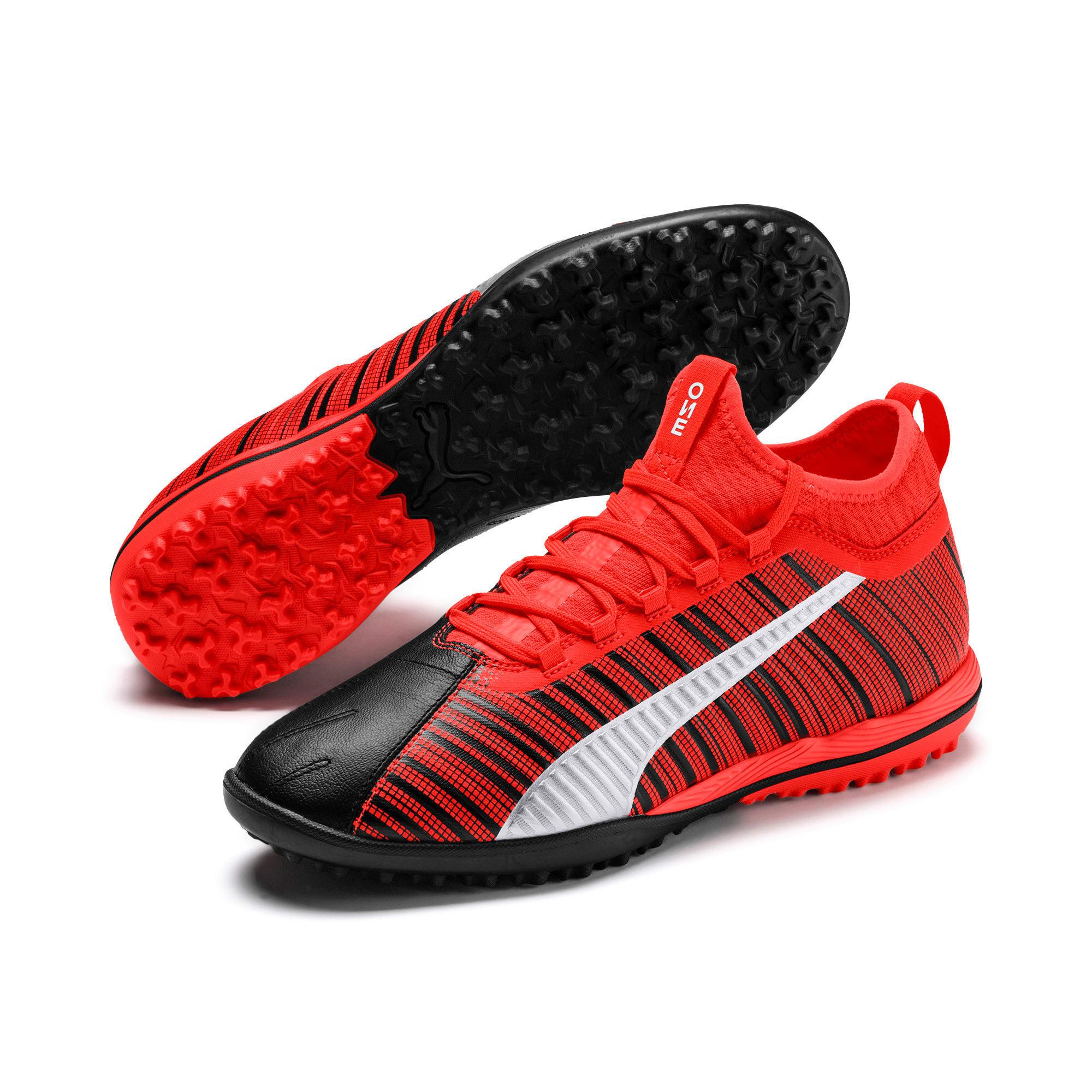 Thumbnail 3 of PUMA ONE 5.3 TT Men's Soccer Shoes, Black-Nrgy Red-Aged Silver, medium