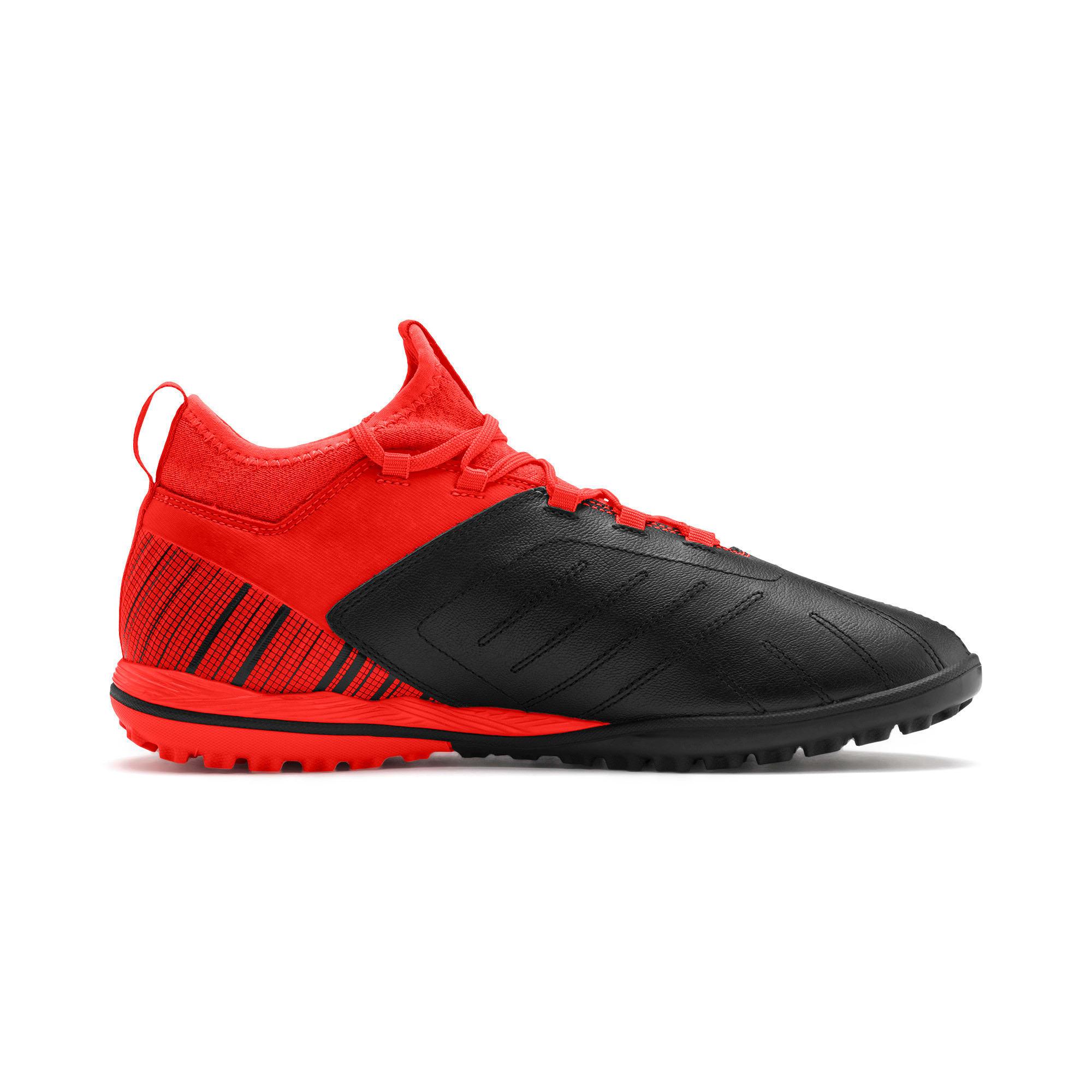 Thumbnail 6 of PUMA ONE 5.3 TT Men's Soccer Shoes, Black-Nrgy Red-Aged Silver, medium
