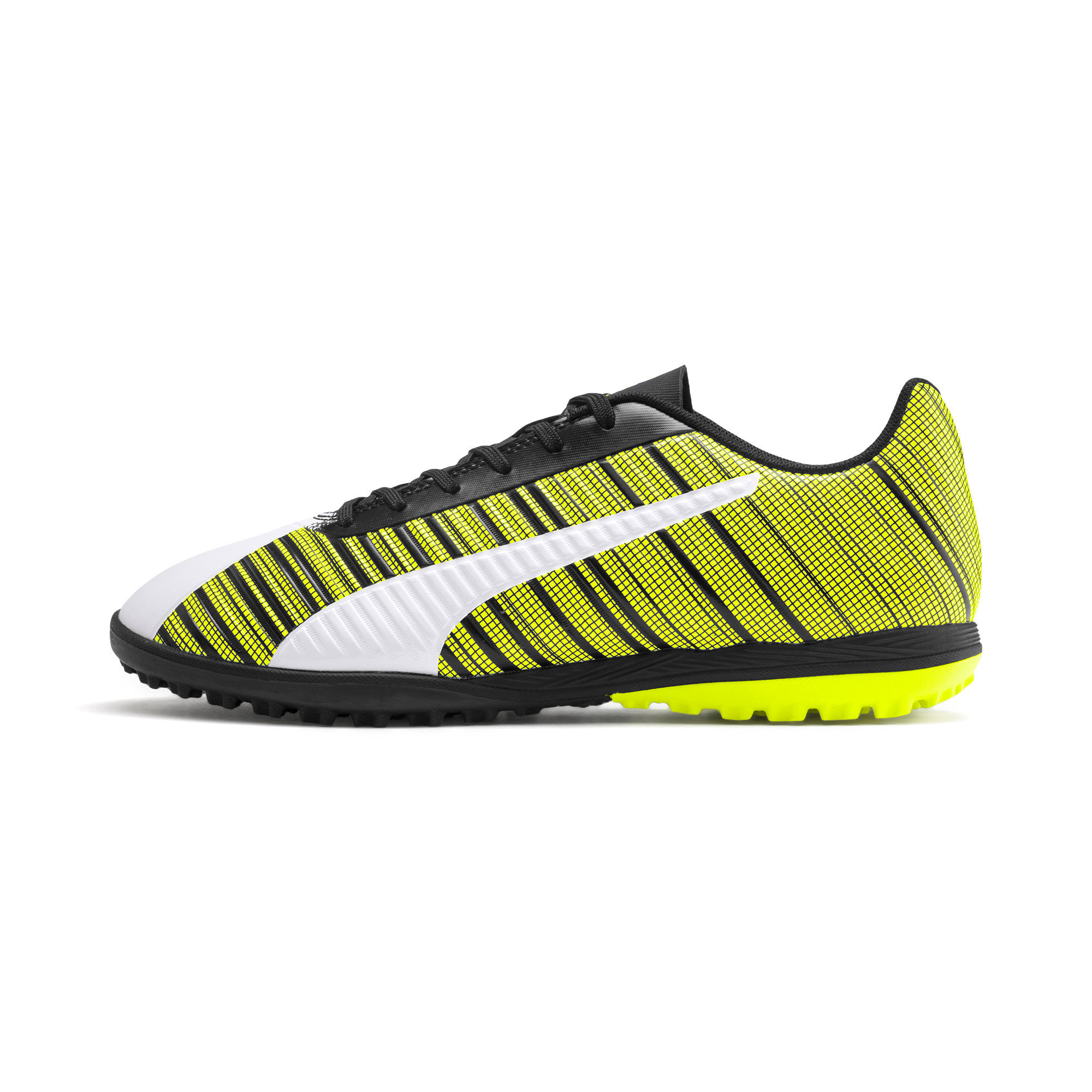 Thumbnail 1 of PUMA ONE 5.4 TT Men's Football Boots, White- Black-Yellow Alert, medium
