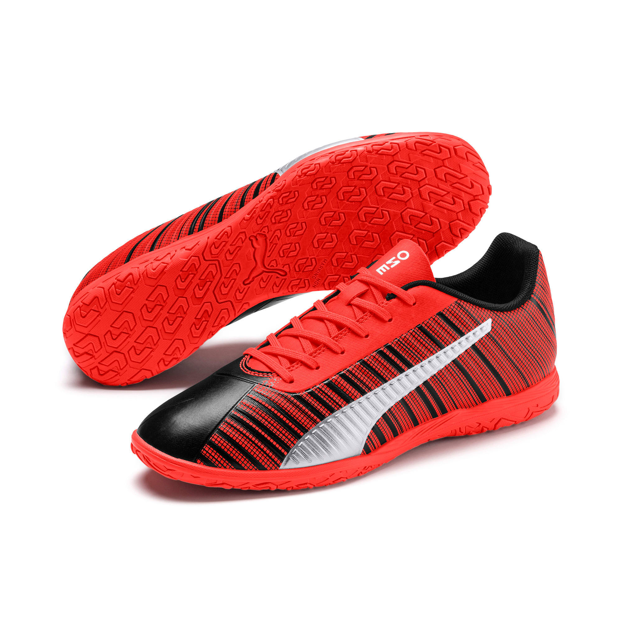 Thumbnail 3 of PUMA ONE 5.4 IT Men's Soccer Shoes, Black-Nrgy Red-Aged Silver, medium
