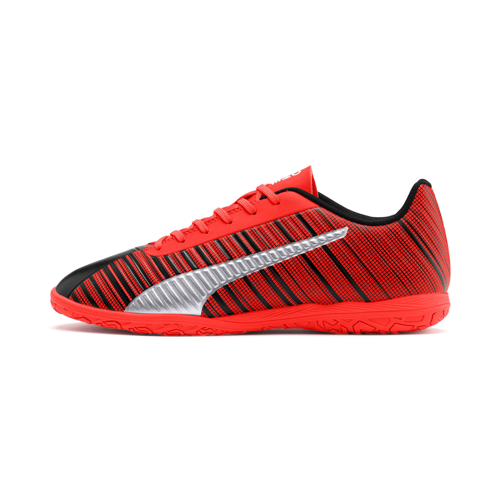 Thumbnail 1 of PUMA ONE 5.4 IT Men's Soccer Shoes, Black-Nrgy Red-Aged Silver, medium