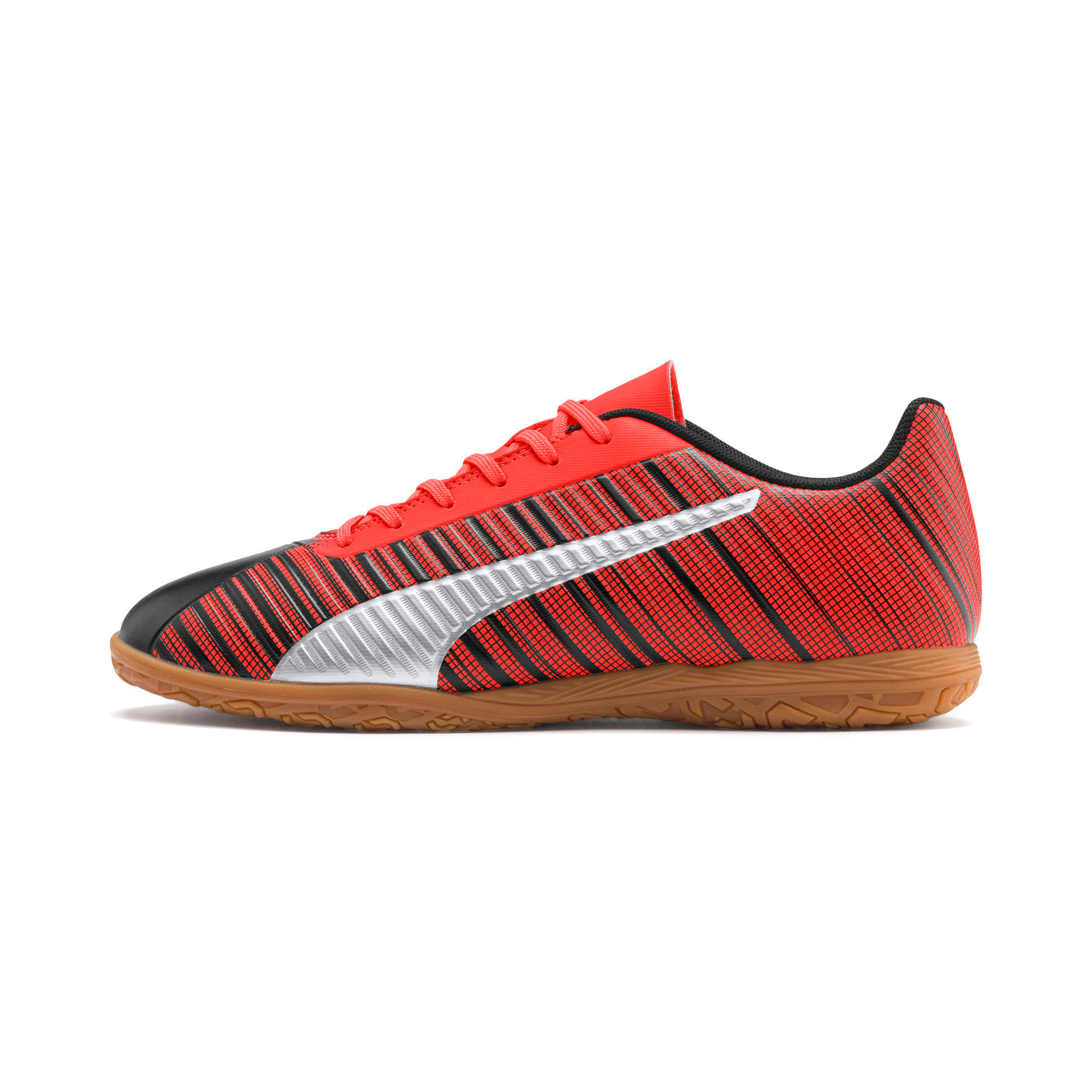 Thumbnail 1 of PUMA ONE 5.4 IT Men's Soccer Shoes, Black-Red-Silver-Gum, medium