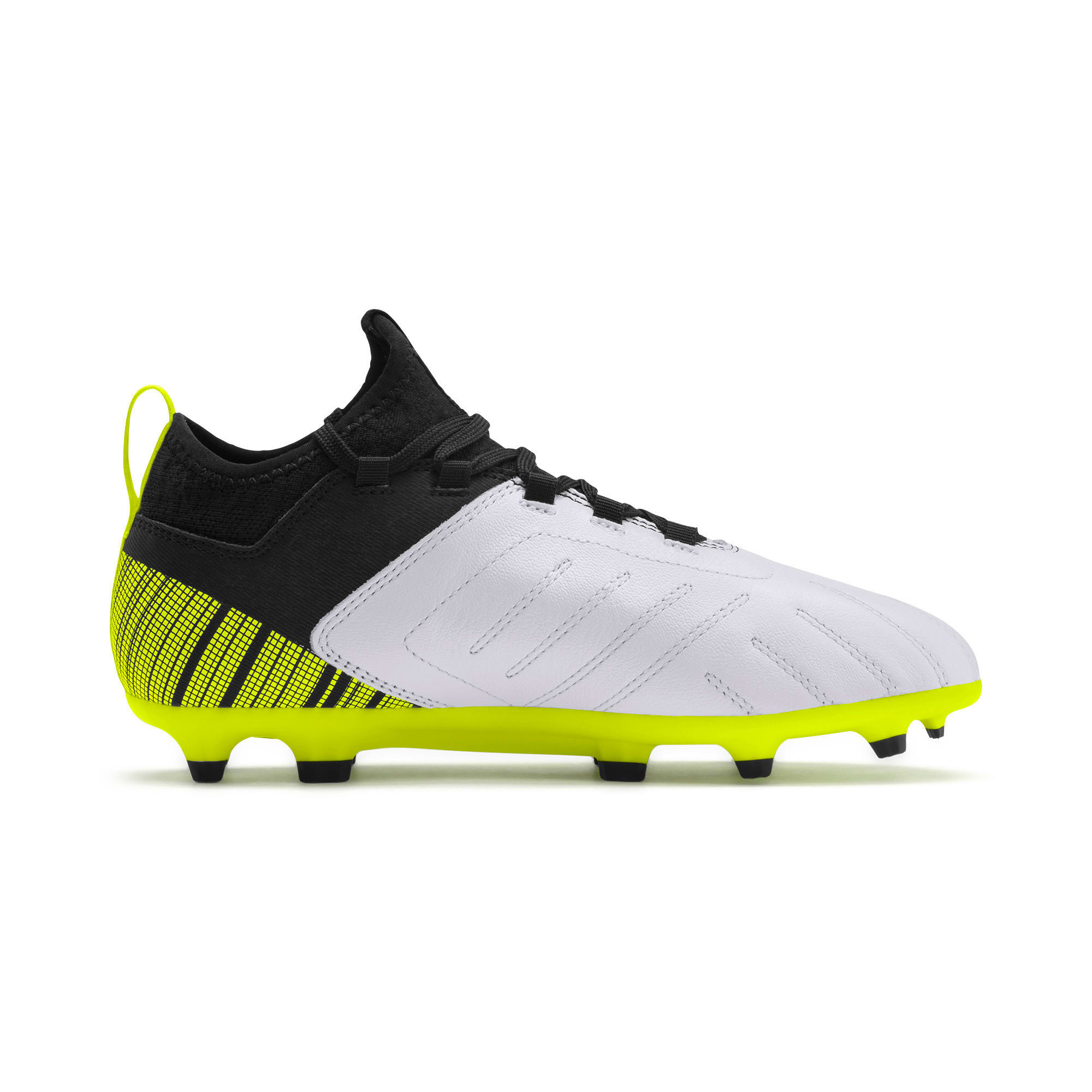 Thumbnail 5 of PUMA ONE 5.4 Youth Football Boots, White-Black-Yellow Alert, medium