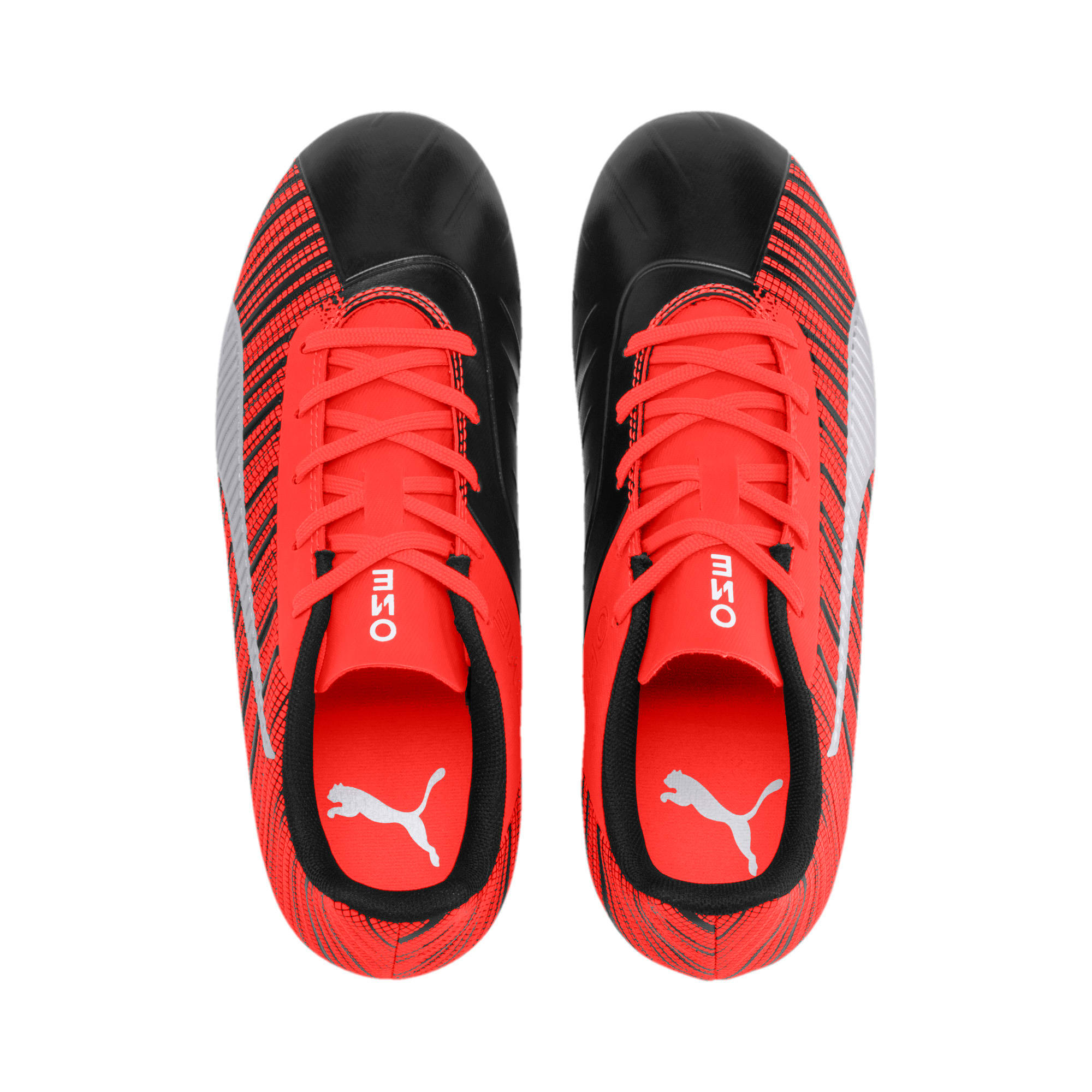 Thumbnail 6 of PUMA ONE 5.4 IT Youth Football Boots, Black-Nrgy Red-Aged Silver, medium-IND