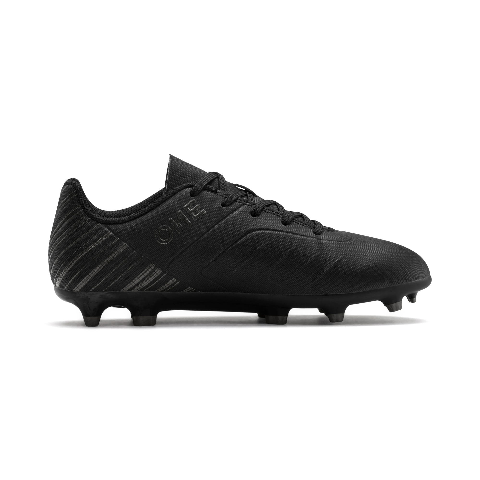 Thumbnail 5 of PUMA ONE 5.4 FG/AG Youth Fußballschuhe, Black-Black-Puma Aged Silver, medium