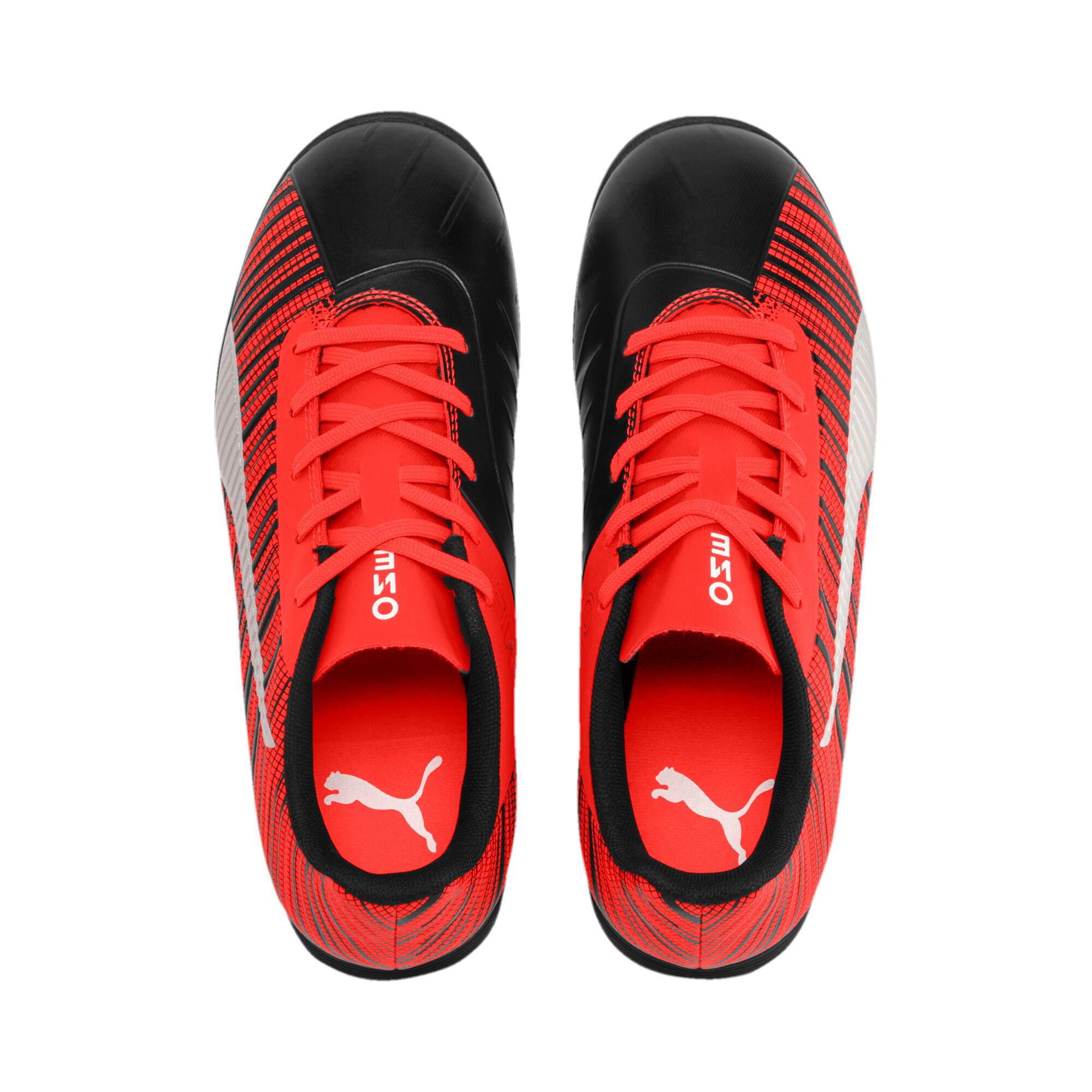 Thumbnail 6 of キッズ プーマ ワン 5.4 サッカー ターフトレーニング JR 18-24.5CM, Black-Nrgy Red-Aged Silver, medium-JPN
