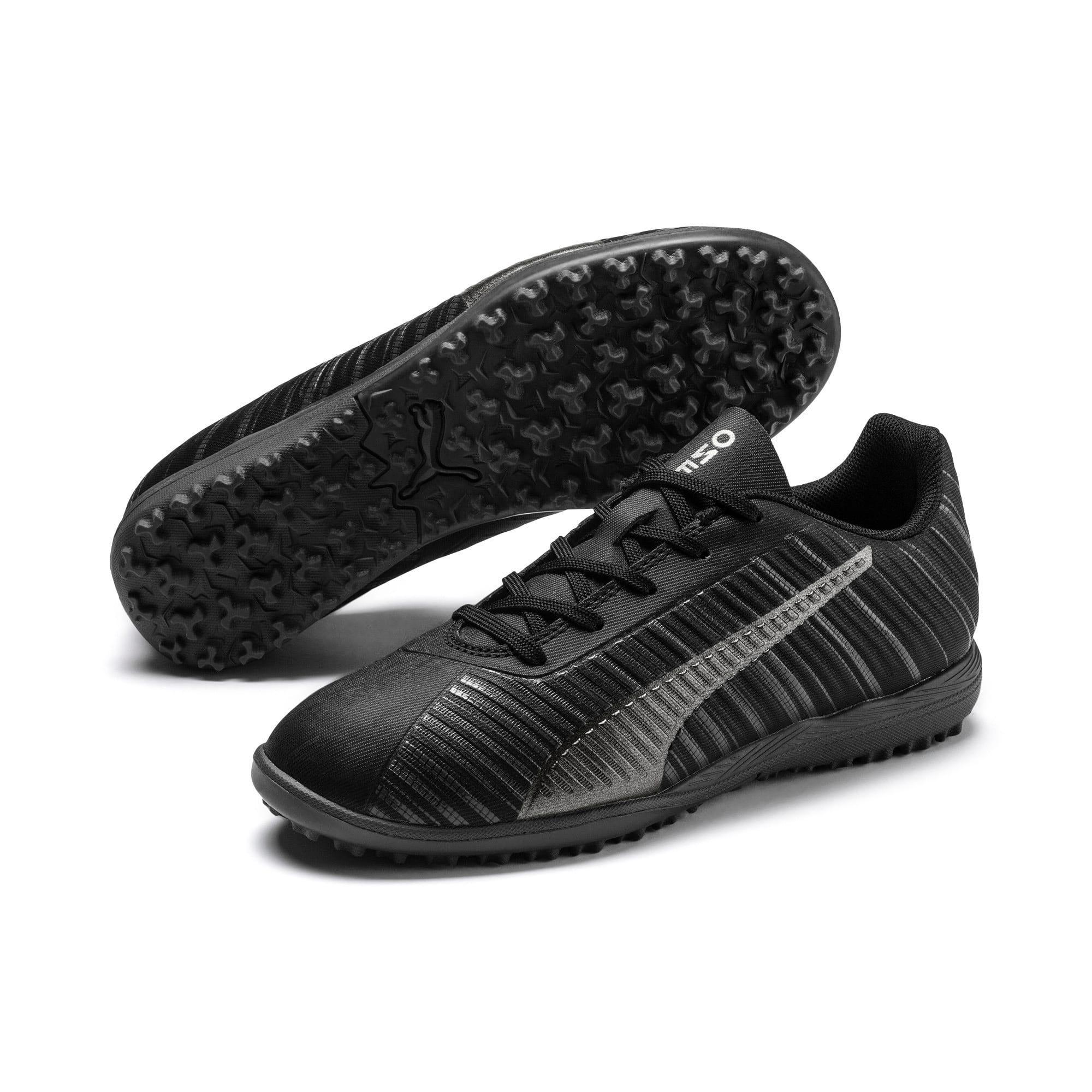 Thumbnail 2 of PUMA ONE 5.4 TT Soccer Shoes JR, Black-Black-Puma Aged Silver, medium