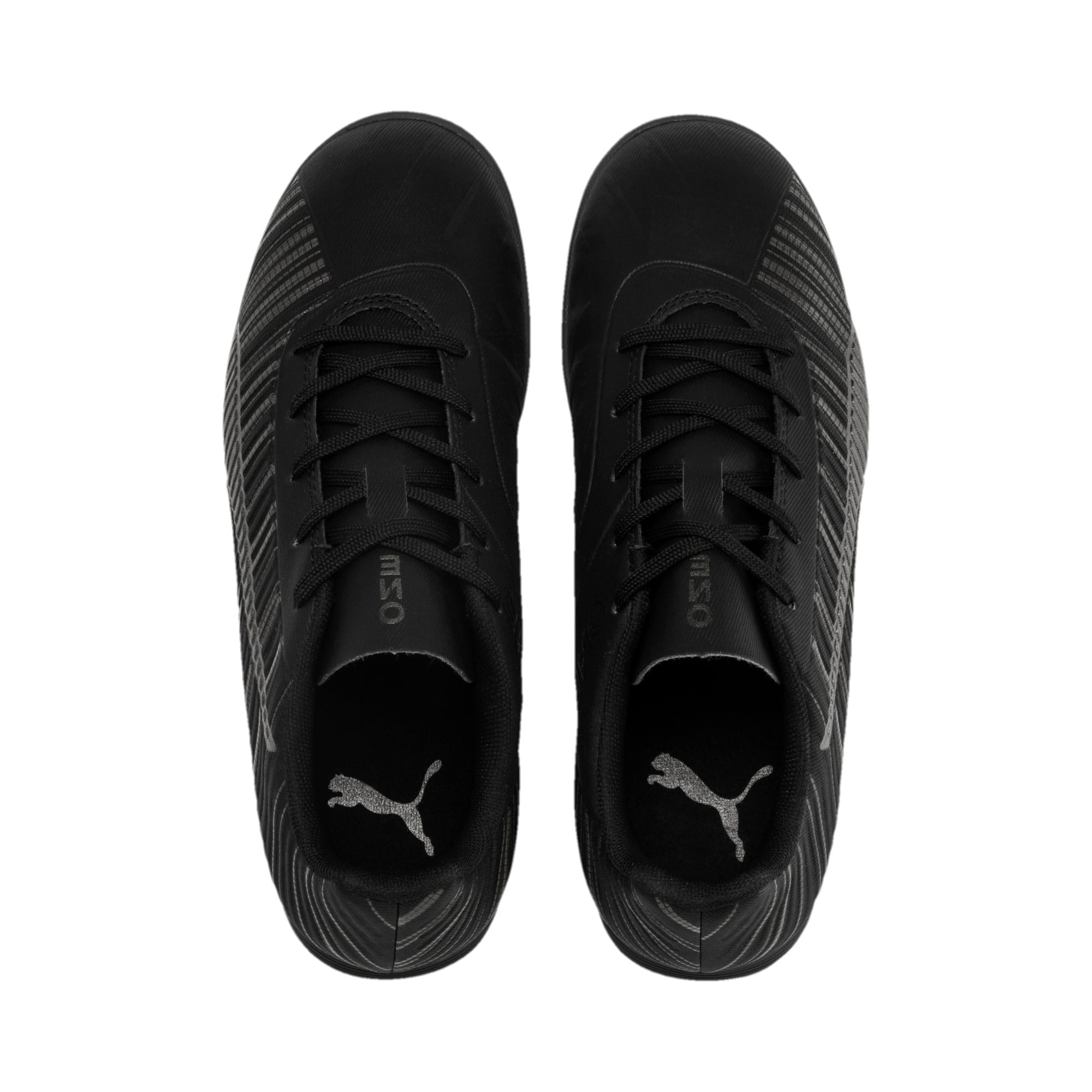 Thumbnail 6 of PUMA ONE 5.4 TT Youth Football Boots, Black-Black-Puma Aged Silver, medium
