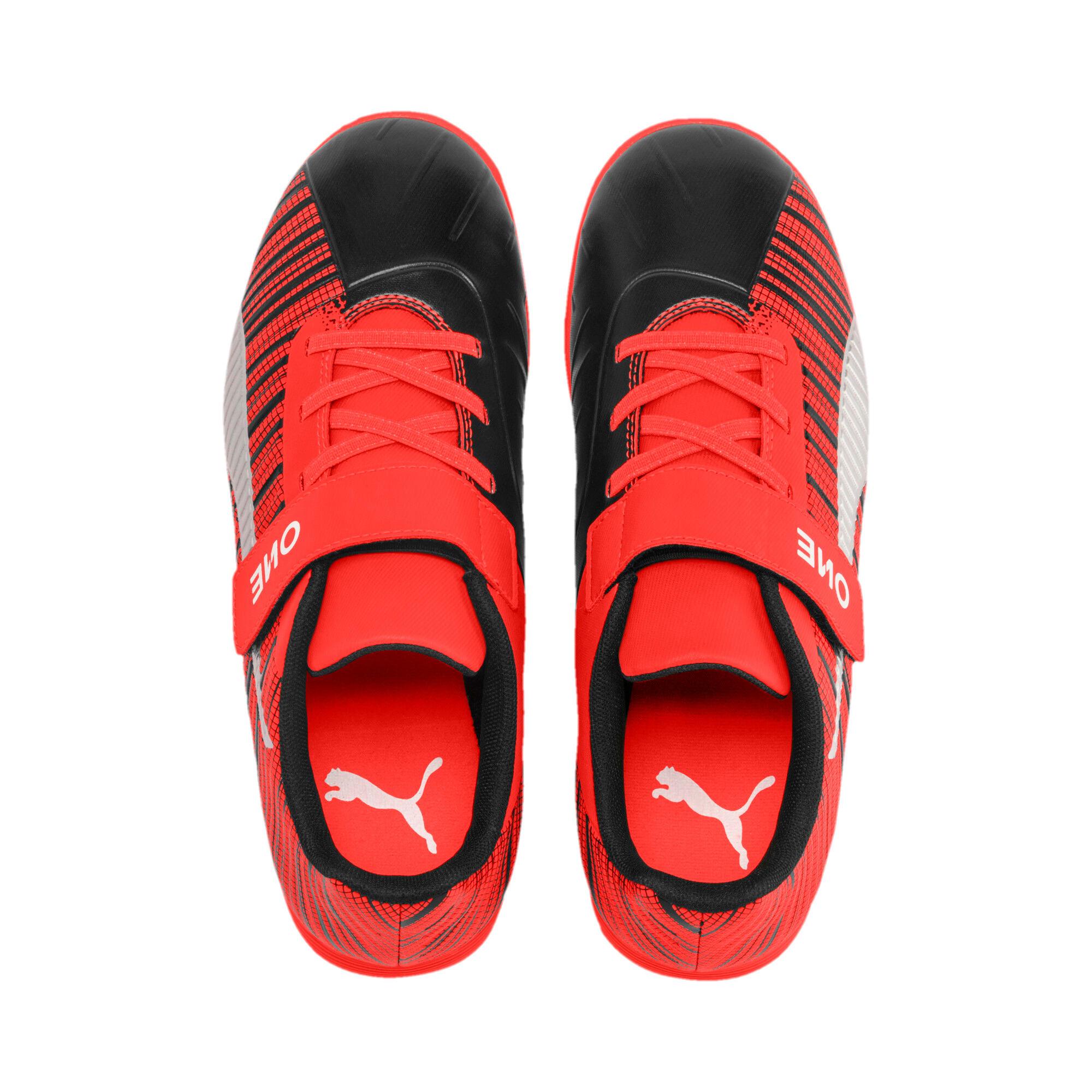 Thumbnail 6 of キッズ プーマ ワン 5.4 サッカー ターフトレーニング V JR 17-24.5CM, Black-Nrgy Red-Aged Silver, medium-JPN