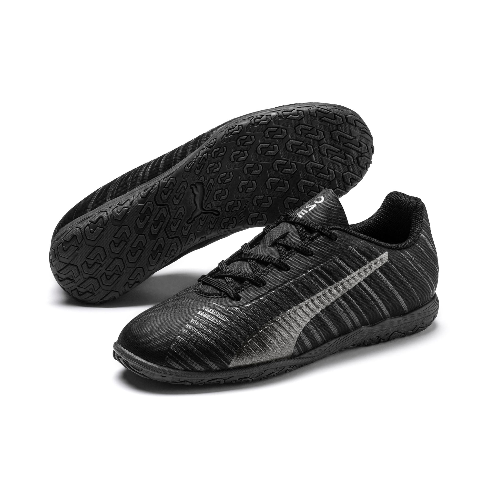 Thumbnail 2 of PUMA ONE 5.4 IT Soccer Shoes JR, Black-Black-Puma Aged Silver, medium