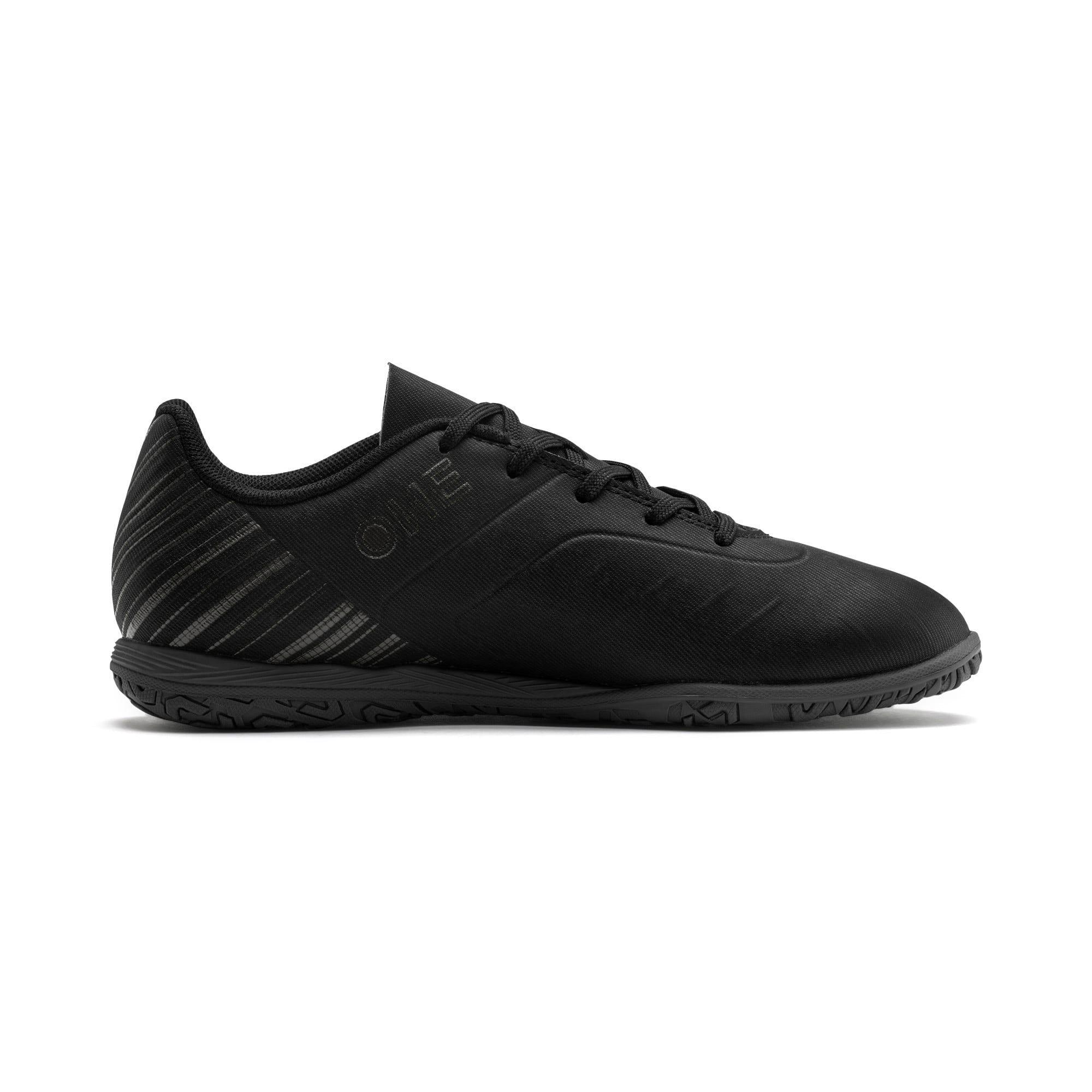 Thumbnail 5 of PUMA ONE 5.4 IT Soccer Shoes JR, Black-Black-Puma Aged Silver, medium