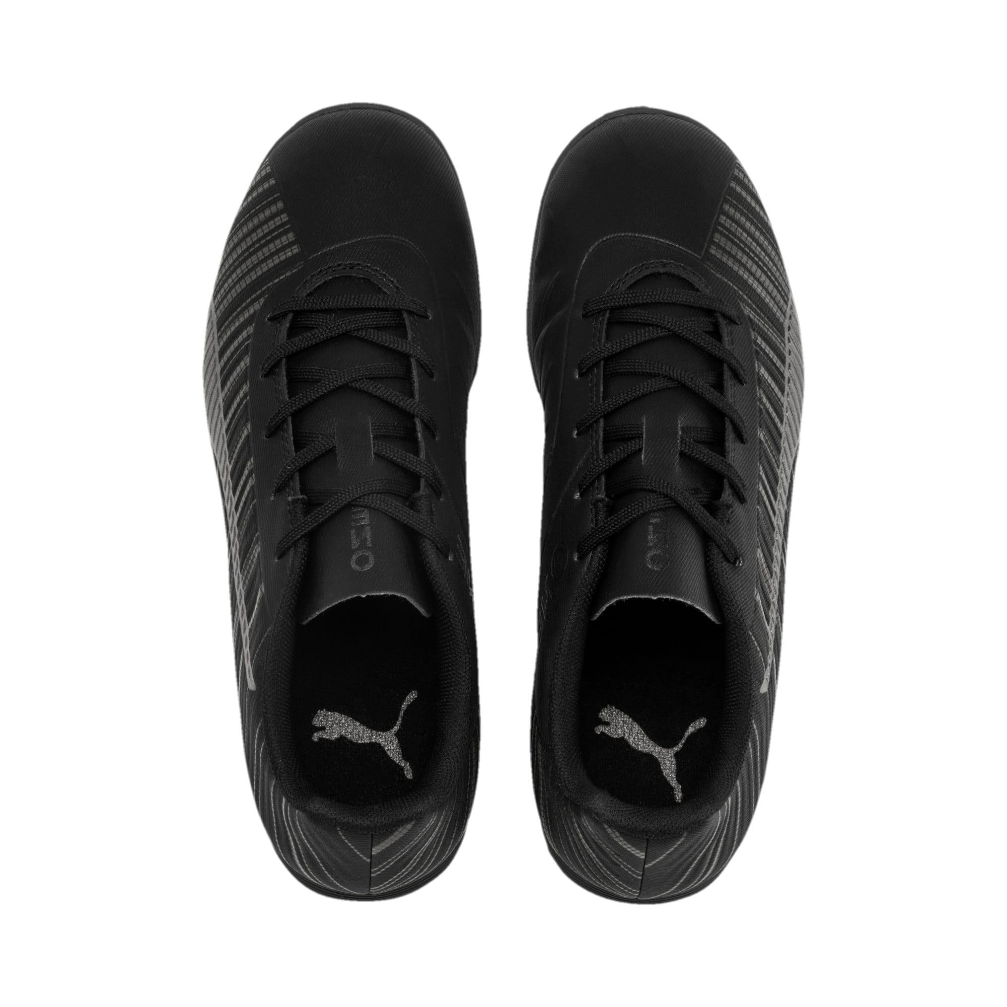 Thumbnail 6 of PUMA ONE 5.4 IT Soccer Shoes JR, Black-Black-Puma Aged Silver, medium