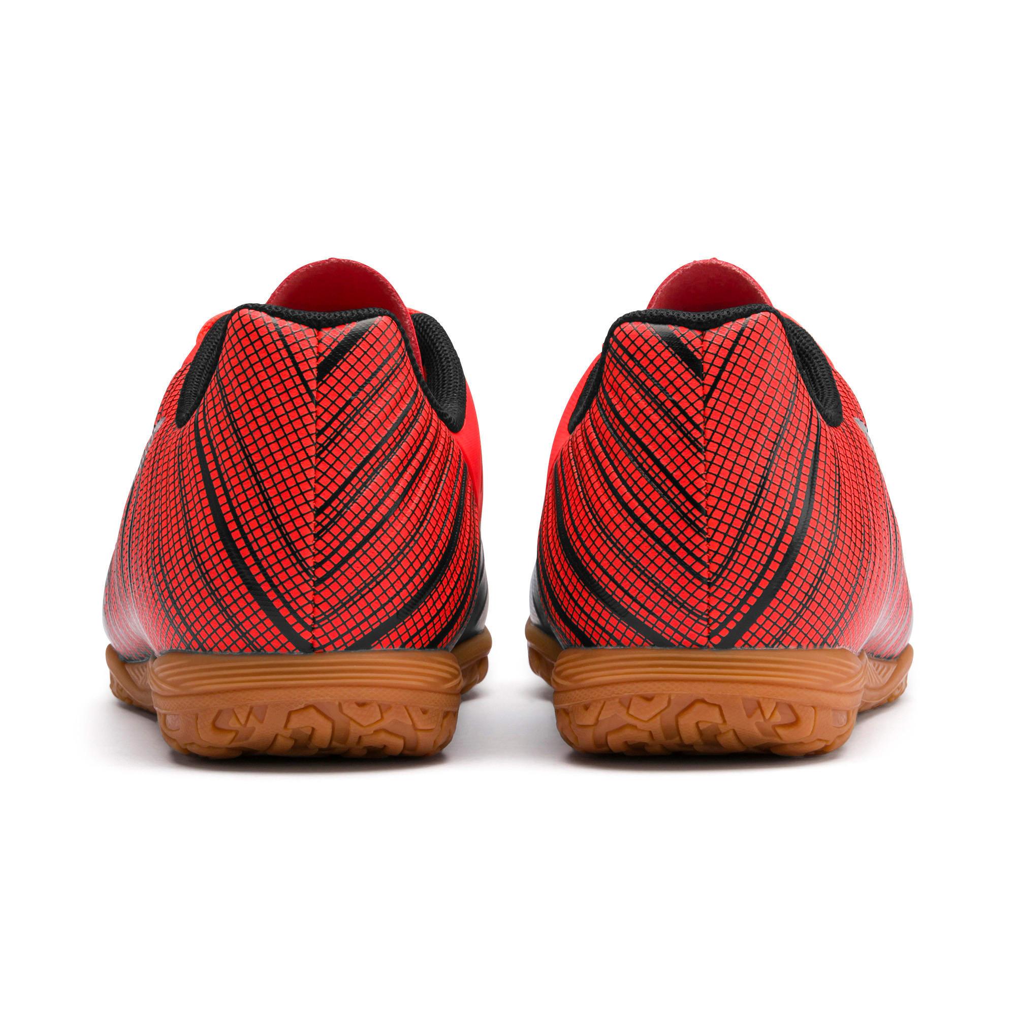 Miniatura 3 de Zapatos de fútbol PUMA ONE 5.4 IT JR, Black-Red-Aged Silver-Gum, mediano