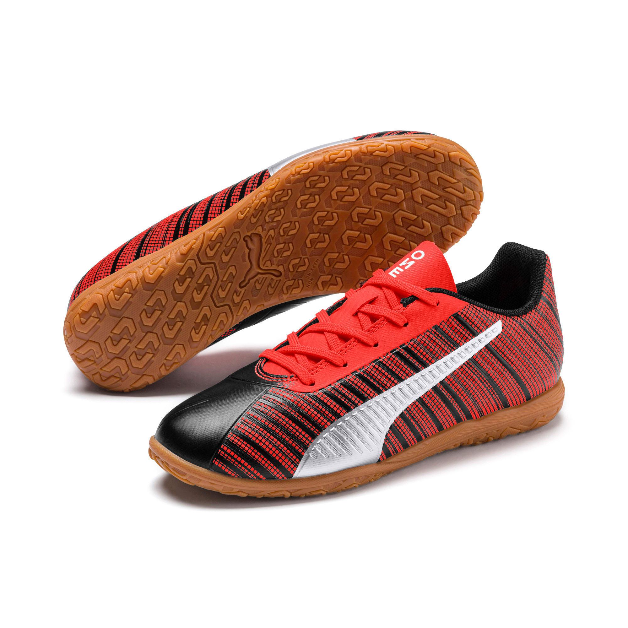 Miniatura 2 de Zapatos de fútbol PUMA ONE 5.4 IT JR, Black-Red-Aged Silver-Gum, mediano