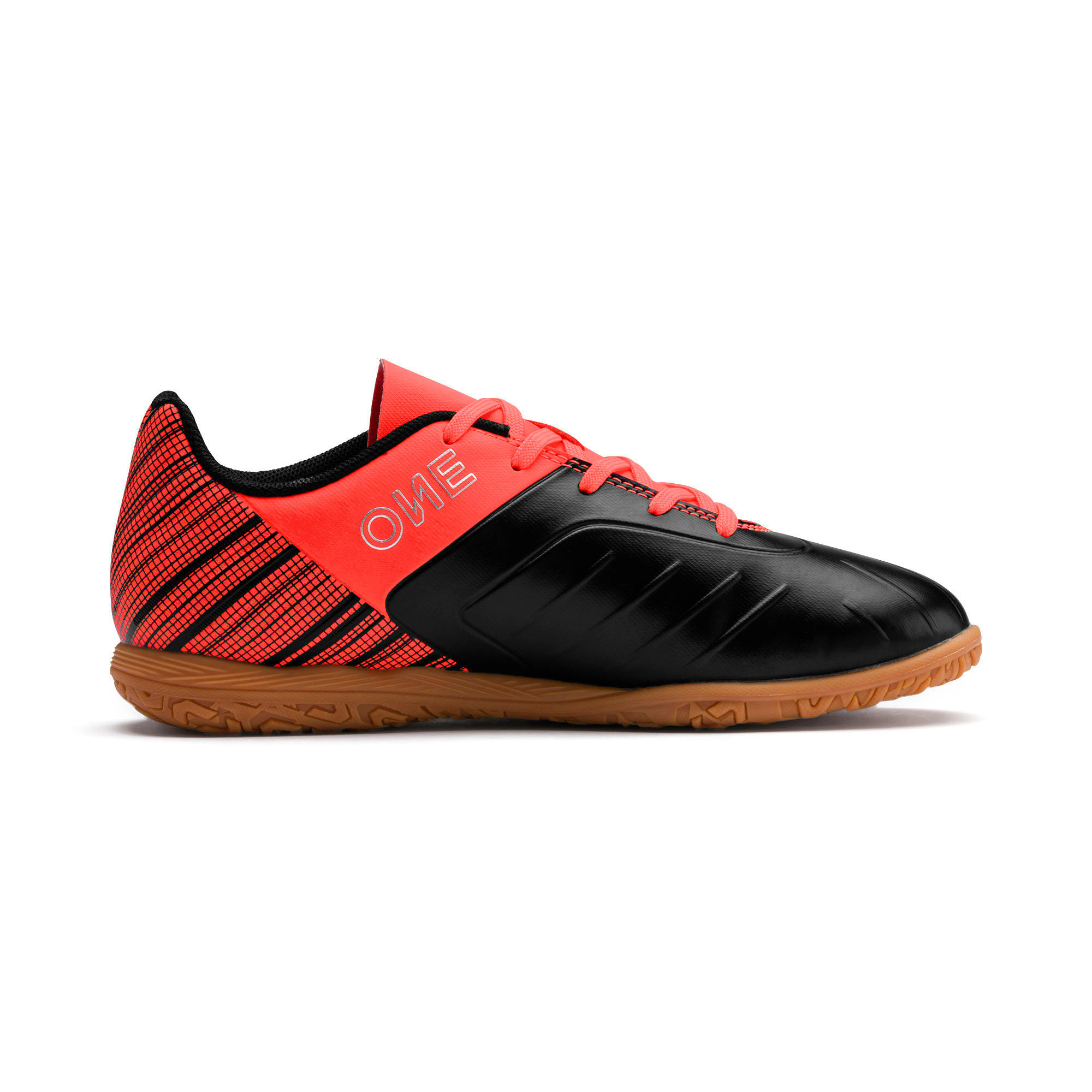 Miniatura 5 de Zapatos de fútbol PUMA ONE 5.4 IT JR, Black-Red-Aged Silver-Gum, mediano