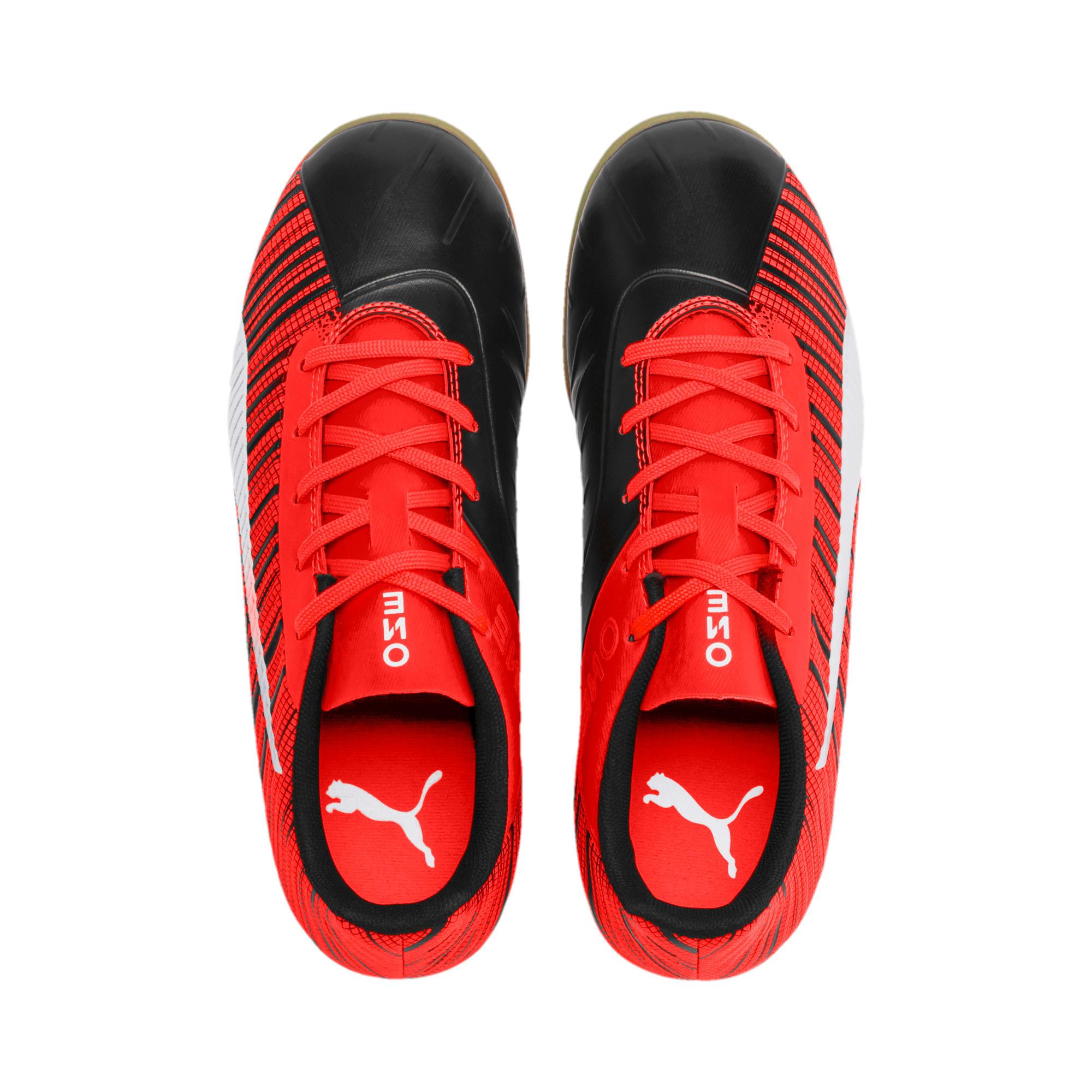 Miniatura 6 de Zapatos de fútbol PUMA ONE 5.4 IT JR, Black-Red-Aged Silver-Gum, mediano