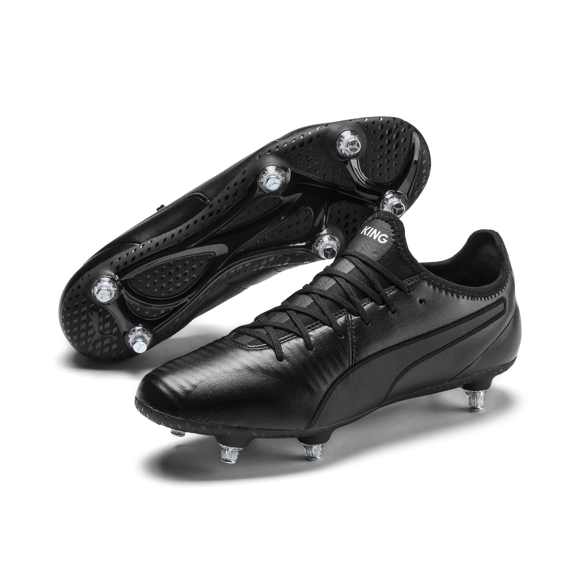 Thumbnail 3 of KING SG Men's Football Boots, Puma Black-Puma White, medium