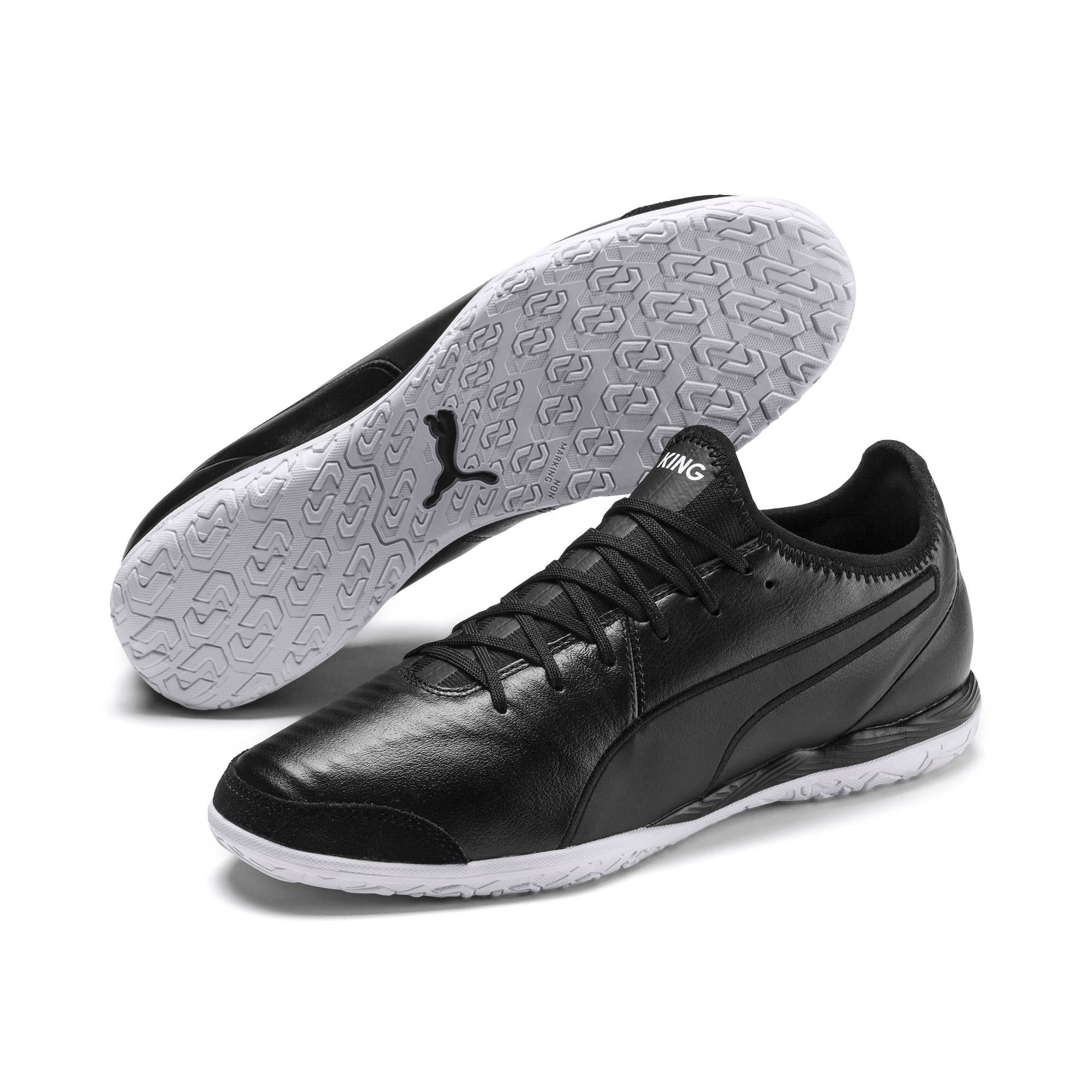 Thumbnail 2 of King Pro IT Soccer Shoes, Puma Black-Puma White, medium