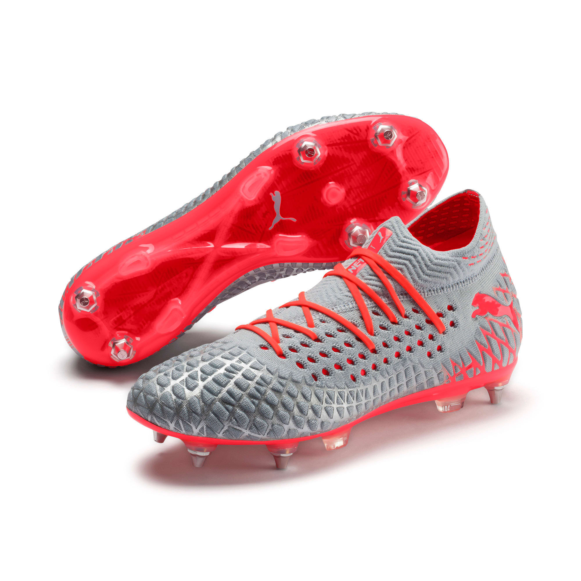 Thumbnail 3 van FUTURE 4.1 NETFIT MxSG voetbalschoenen, Blue-Nrgy Red-High Risk Red, medium