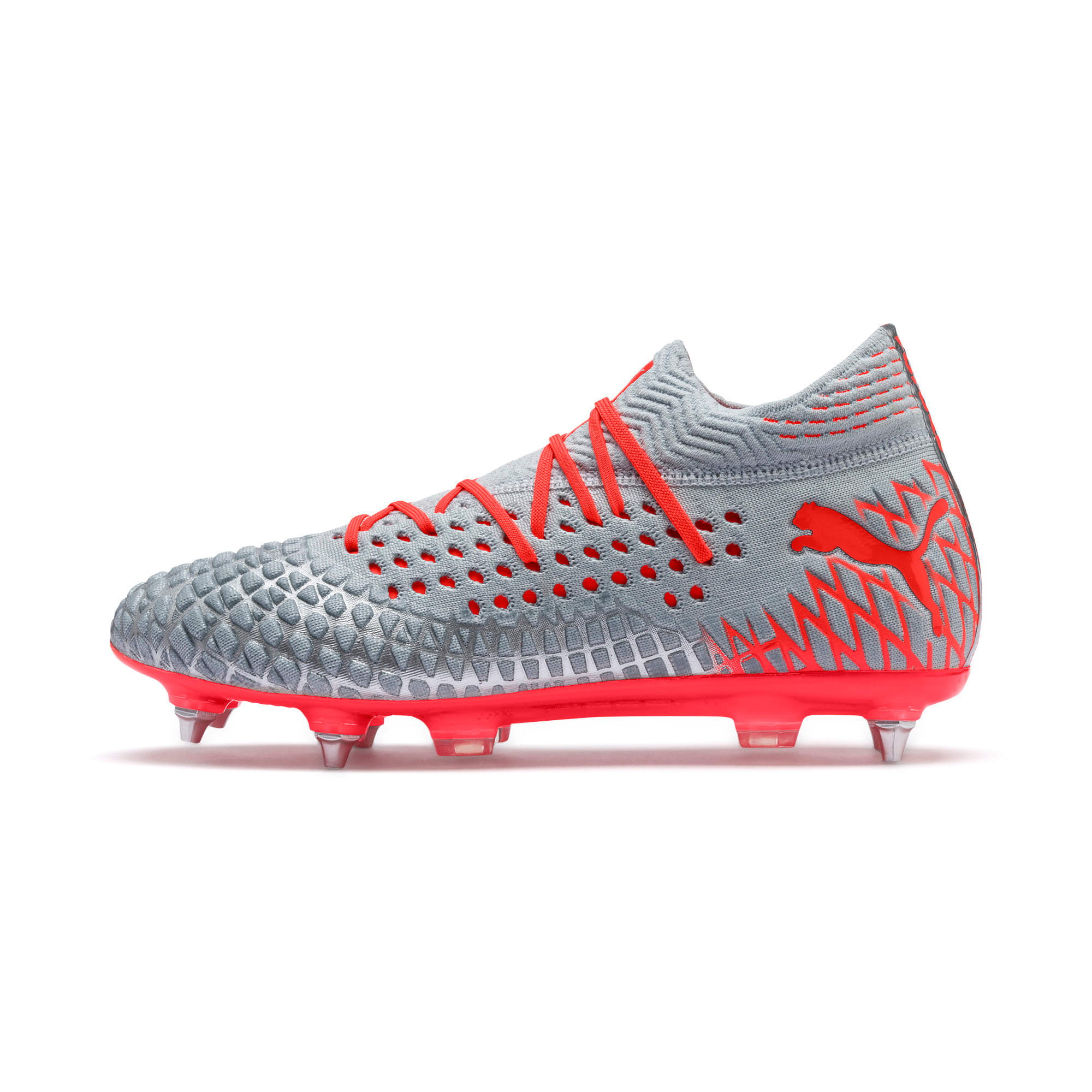 Thumbnail 1 van FUTURE 4.1 NETFIT MxSG voetbalschoenen, Blue-Nrgy Red-High Risk Red, medium