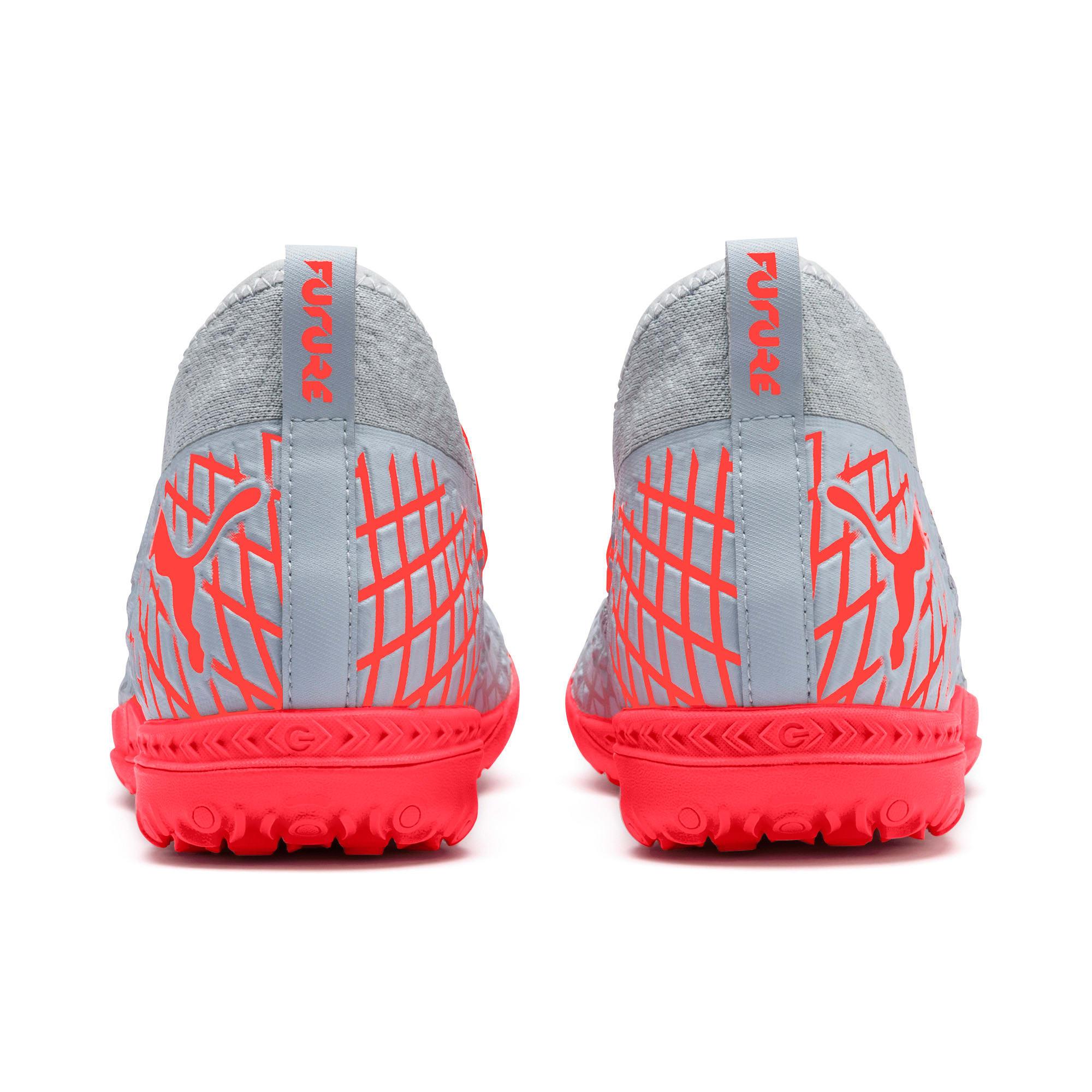 Thumbnail 4 of FUTURE 4.3 NETFIT TT Men's Soccer Shoes, Glacial Blue-Nrgy Red, medium